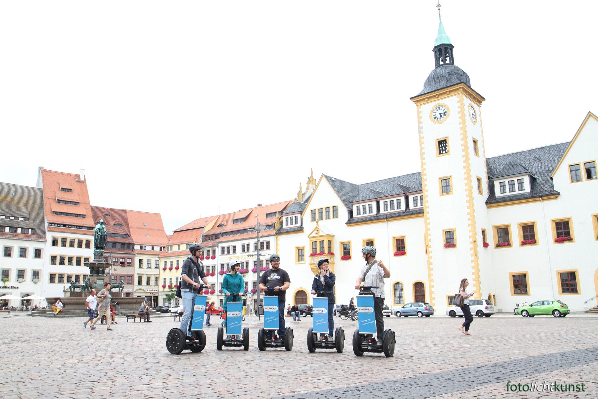 Obermarkt Freiberg Tour mit Segway