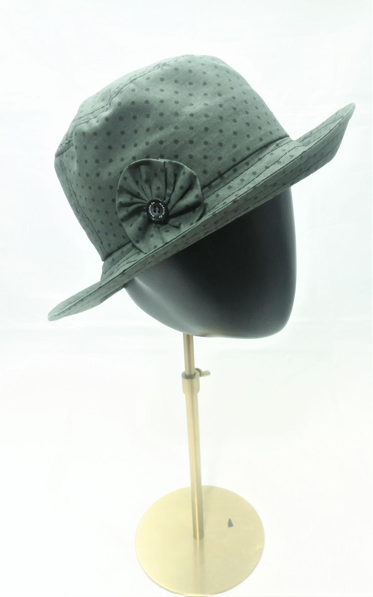 Stoffhut mit Blume, Baumwolle, stabiler Kopfsitz, Manufakturarbeit, auch in anderen Designs bestellbar Preis 59,90 €