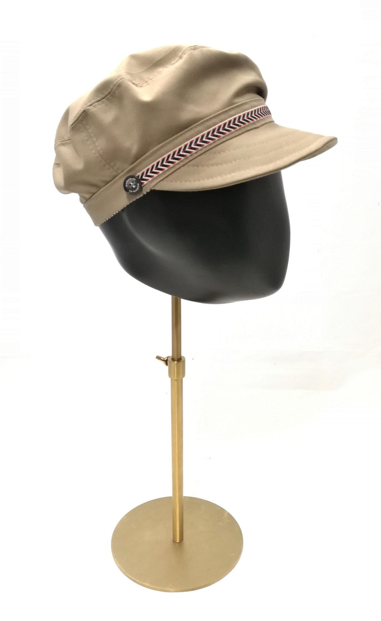 Schirm Cap passend für sie und ihn,  UV Stoff, khaki, Manufakturarbeit, bestellbar Preis 64,90 €