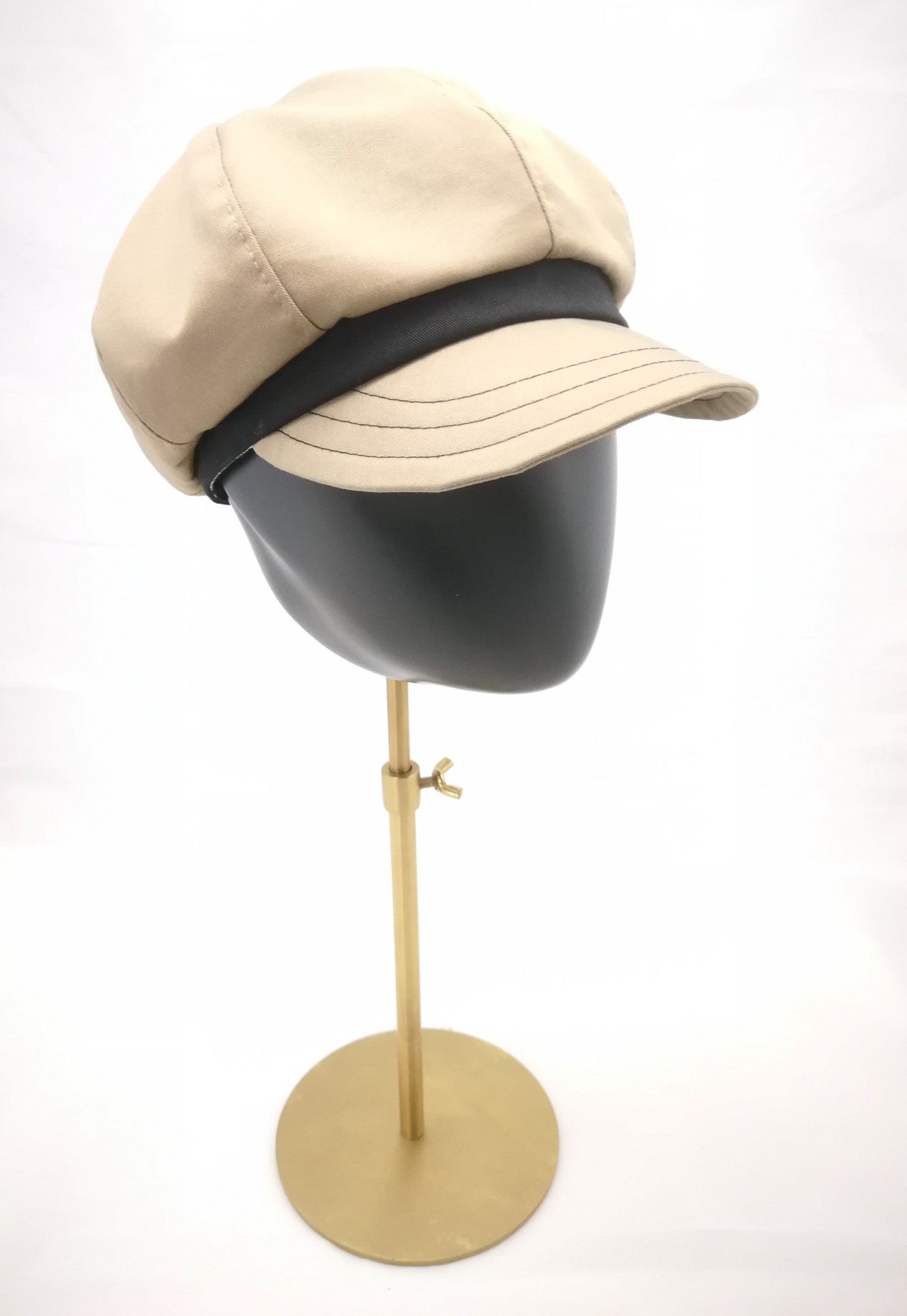 Ballonmütze mit Schirm, für sie und ihn, UV Stoff, beige, Manufakturarbeit, bestellbar Preis 64,90 €