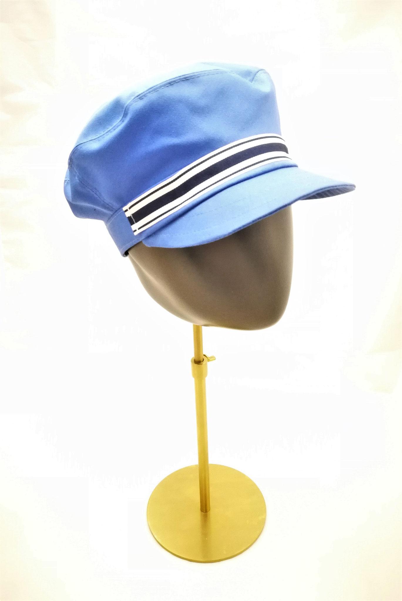 Schirmcap, für sie und ihn, UV Stoff, hellblau, Manufakturarbeit, bestellbar Preis 64,90 €