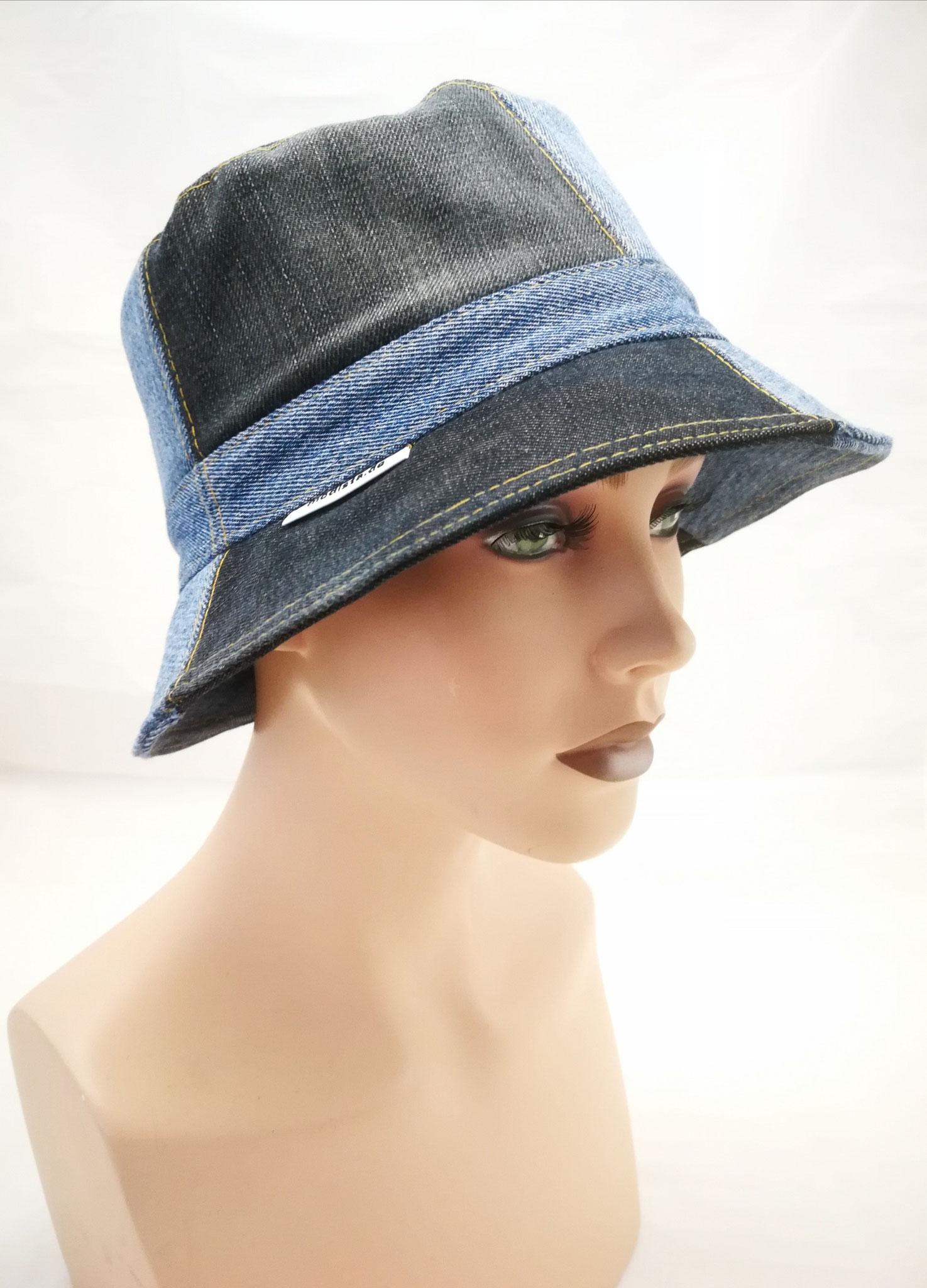Denim Bucket Hat aus verschiedenen Jeansmaterialien, Manufakturarbeit - bestellbar 89,90 €