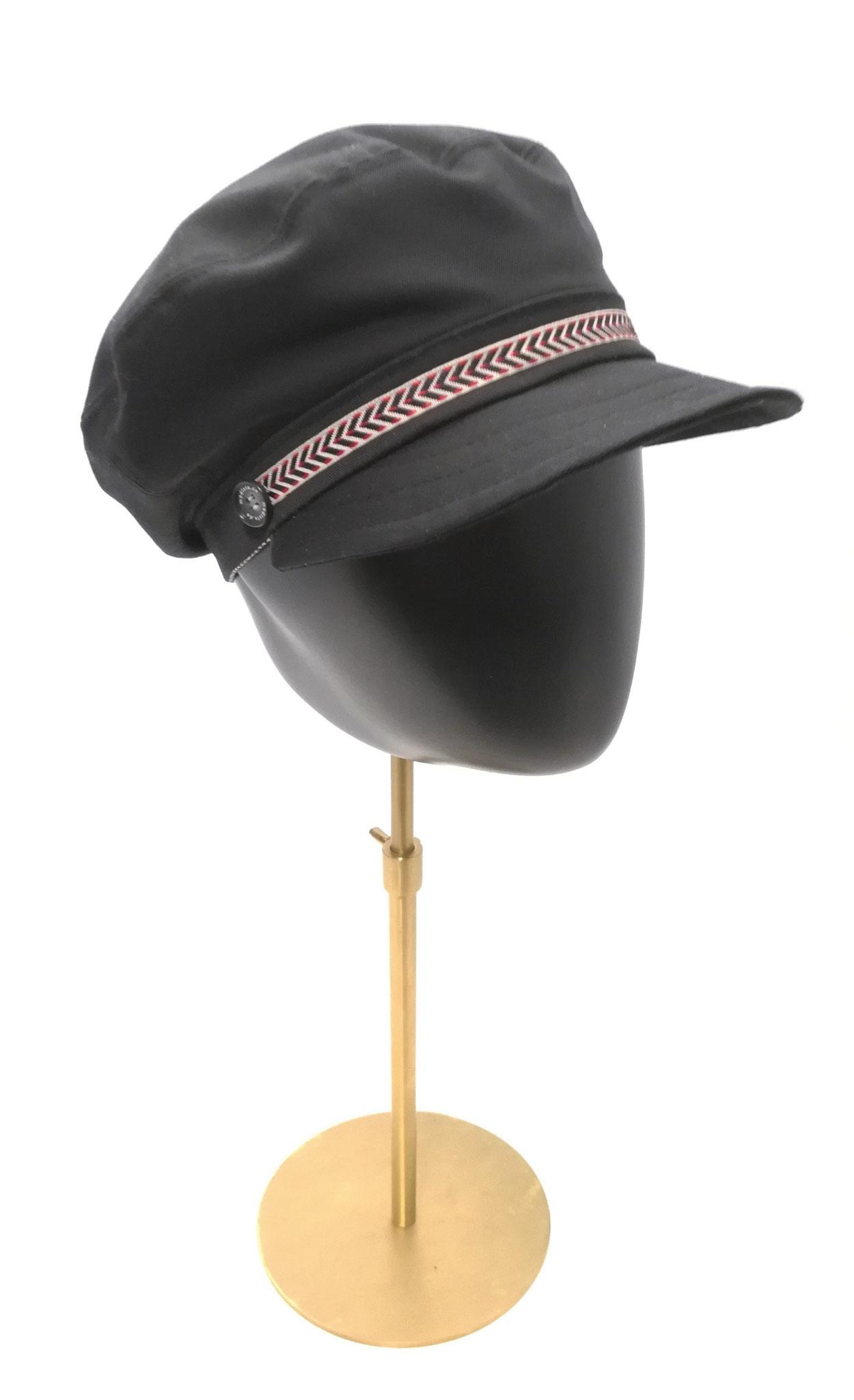 Schirm Cap passend für sie und ihn,  UV Stoff, schwarz, Manufakturarbeit, bestellbar Preis 64,90 €