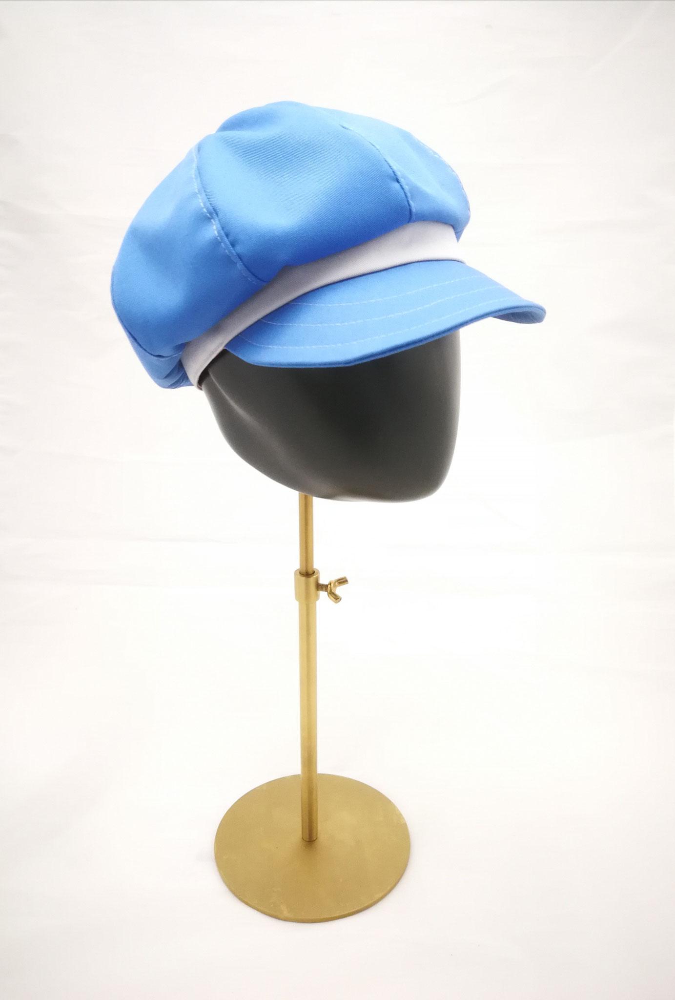Ballonmütze mit Schirm, für sie und ihn, UV Stoff, hellblau, Manufakturarbeit, bestellbar Preis 64,90 €