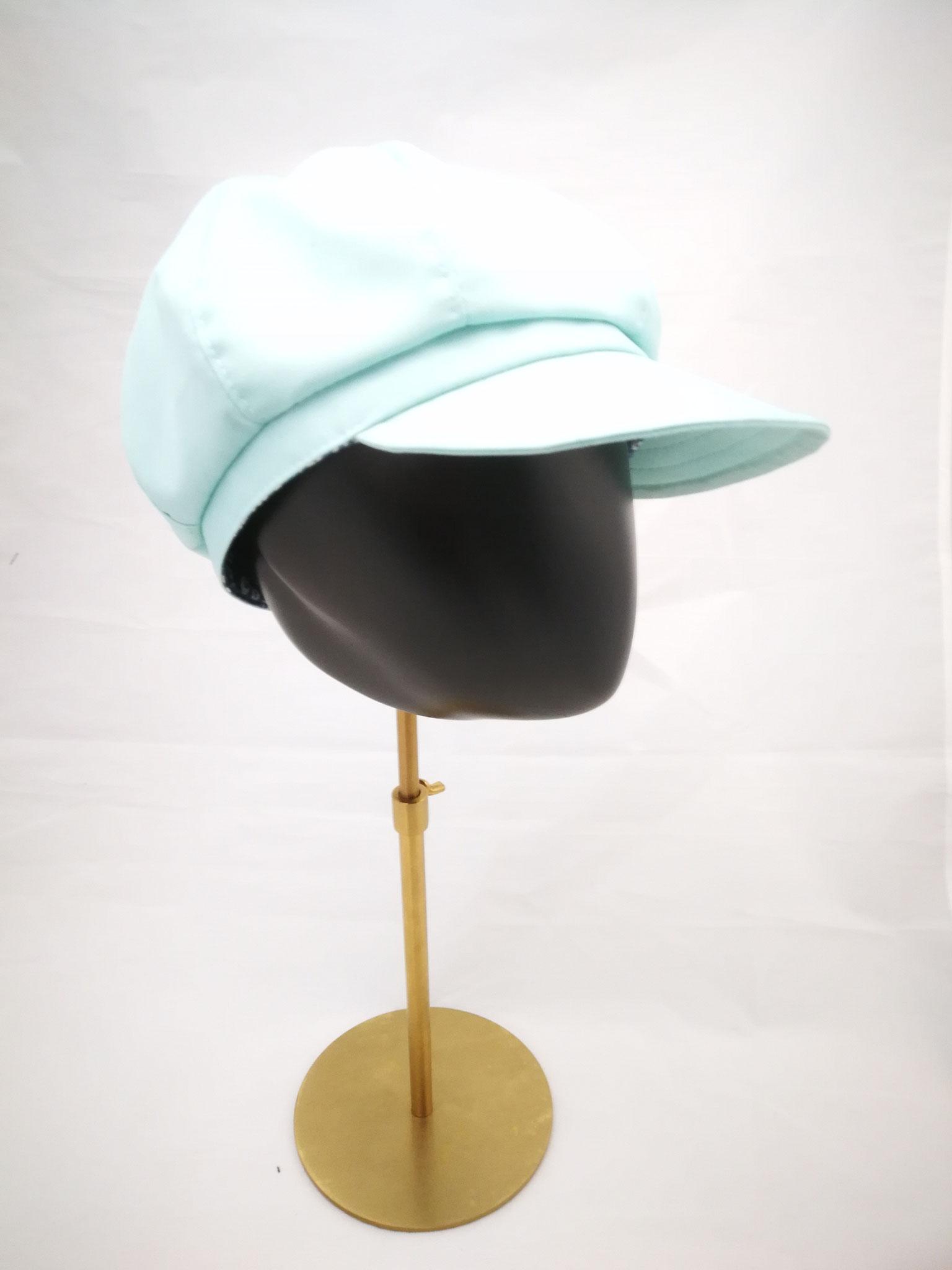Ballonmütze mit Schirm,  UV Stoff, mitgrün, Manufakturarbeit, bestellbar Preis 64,90 €