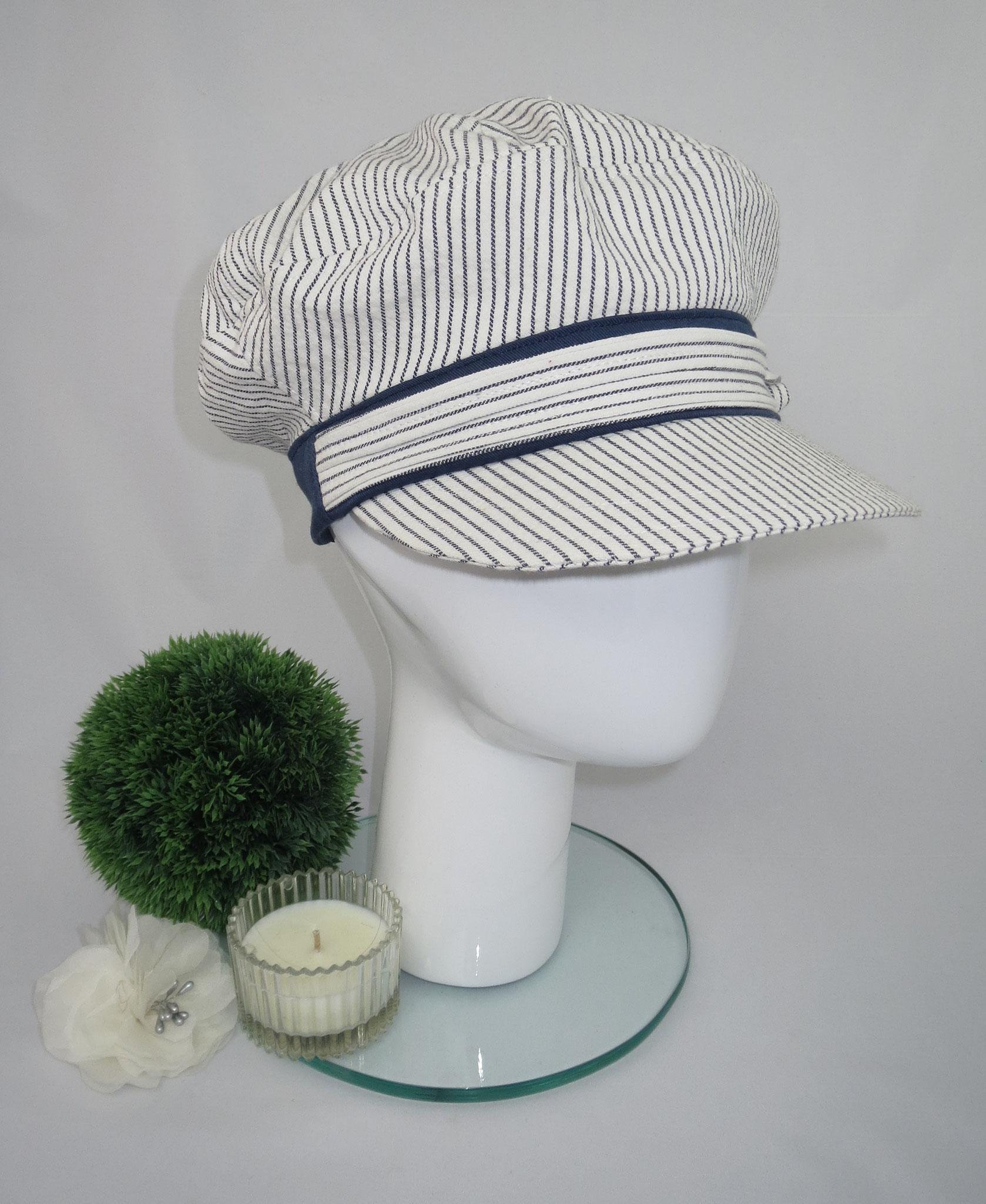Schimü_06, Baumwolljeans, Gummizug am Hinterkopf, in jeder gewünschten Kopfgröße herstellbar, Preis: 49,90 €