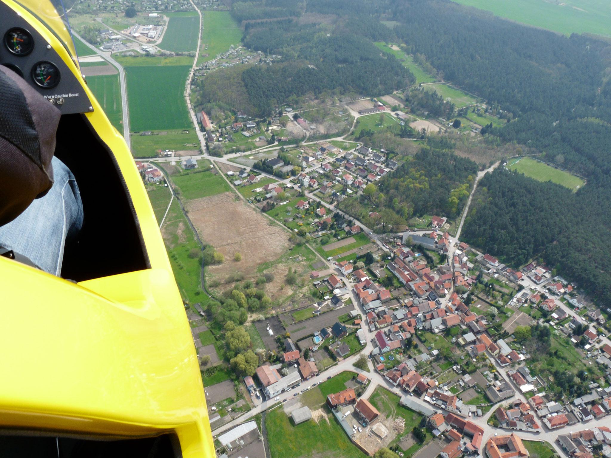 Blick von Dorfmitte nach Osten