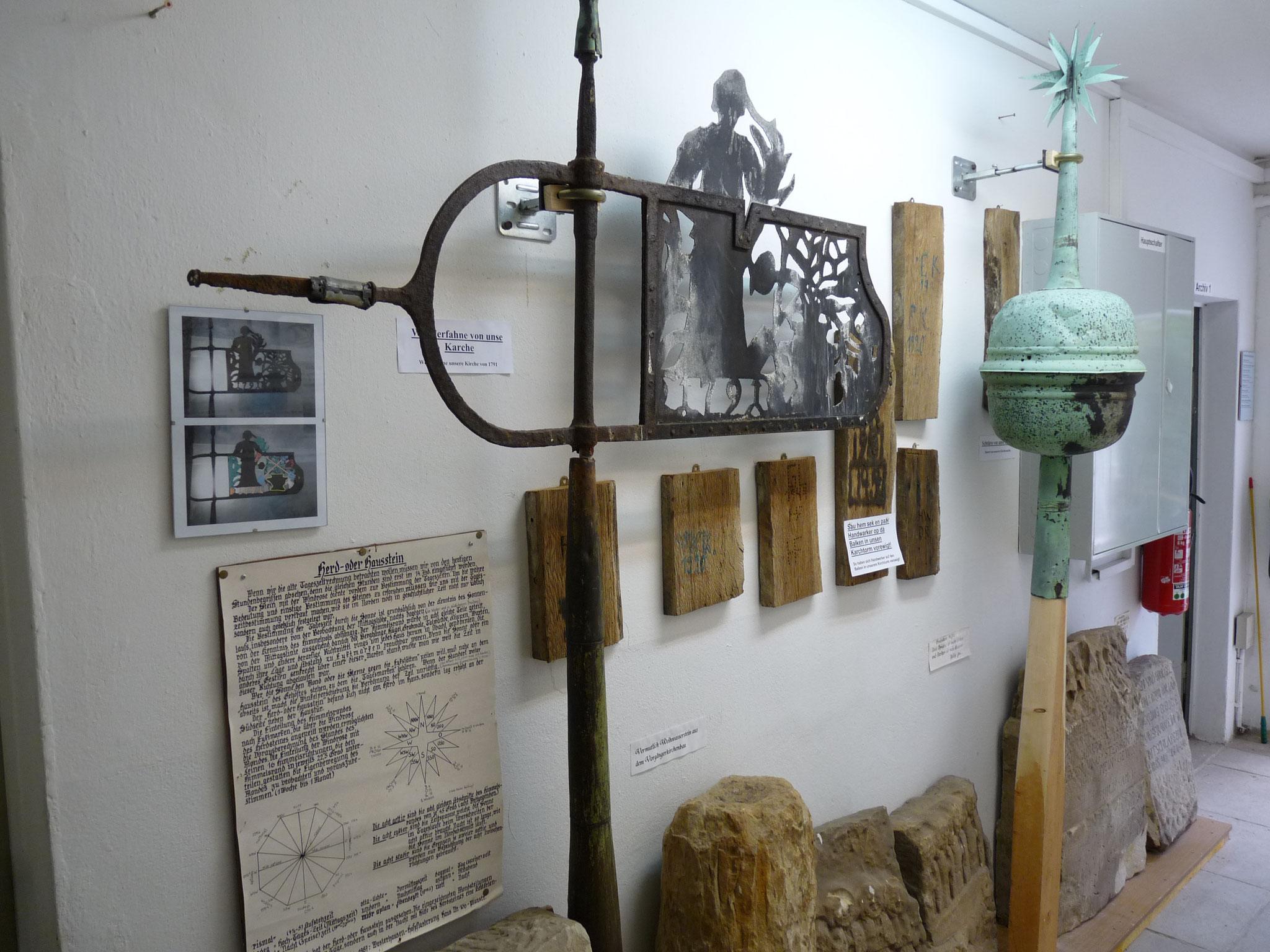 interessante Baureste aus der Kirche