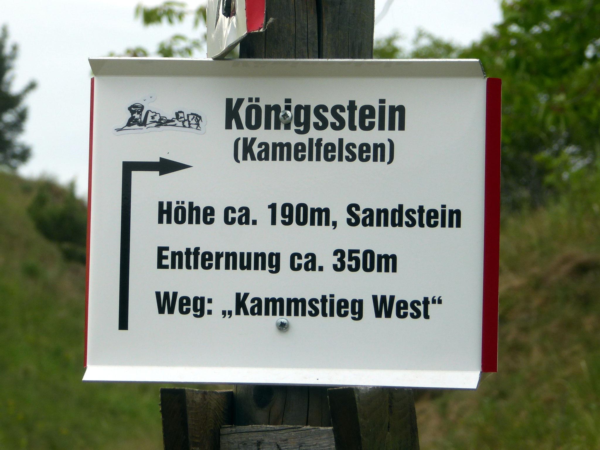 """Das Schild am """"Arschkerbenweg"""" von Westen zum Kopf"""