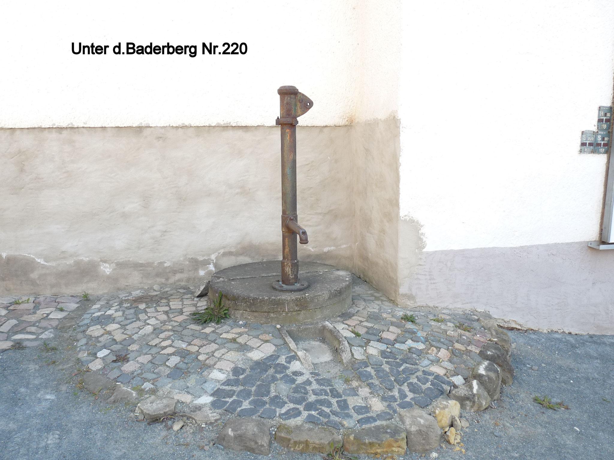Brunnen unter dem Baderberg 220