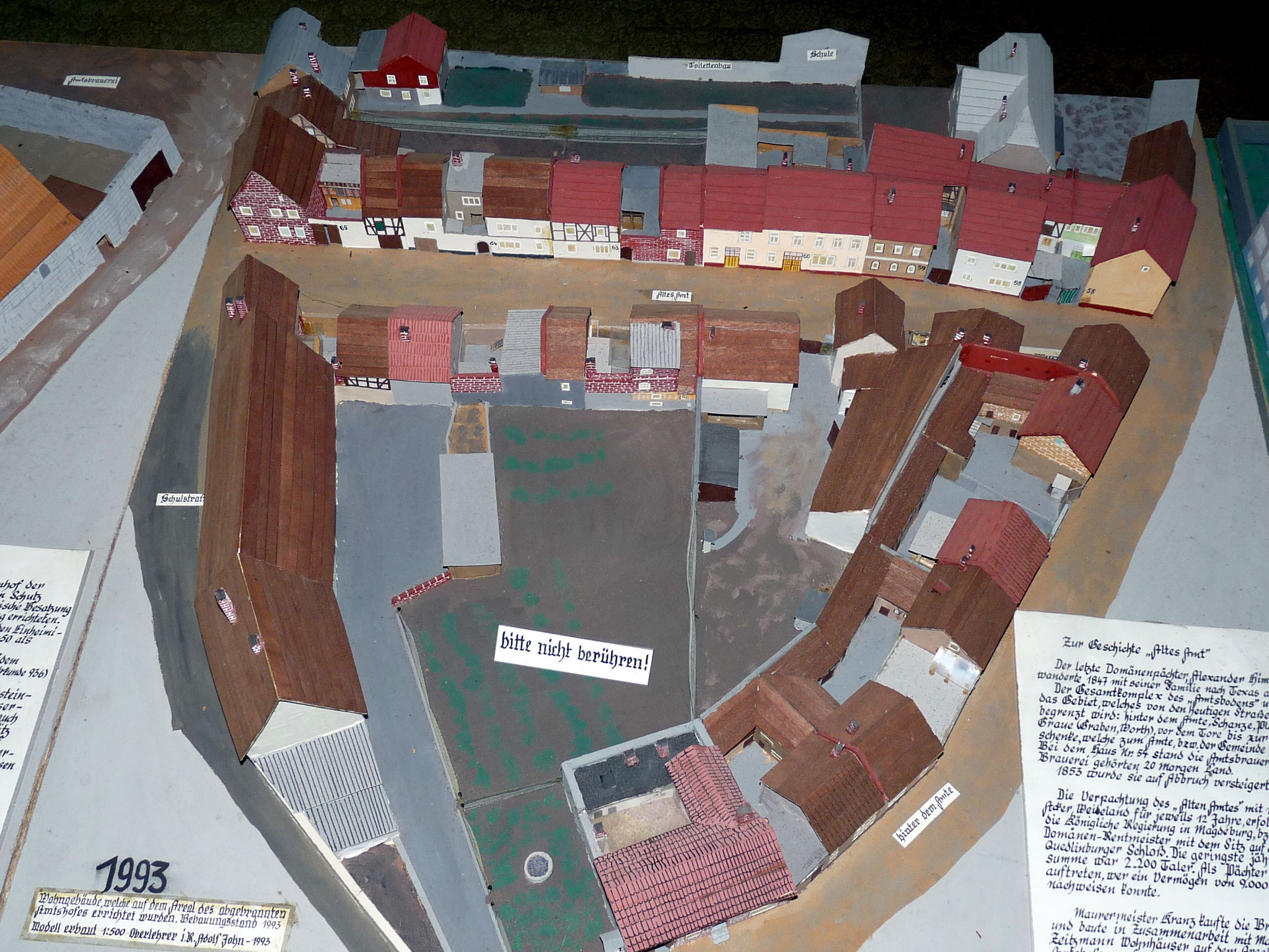 Das Modell des alten Amtes