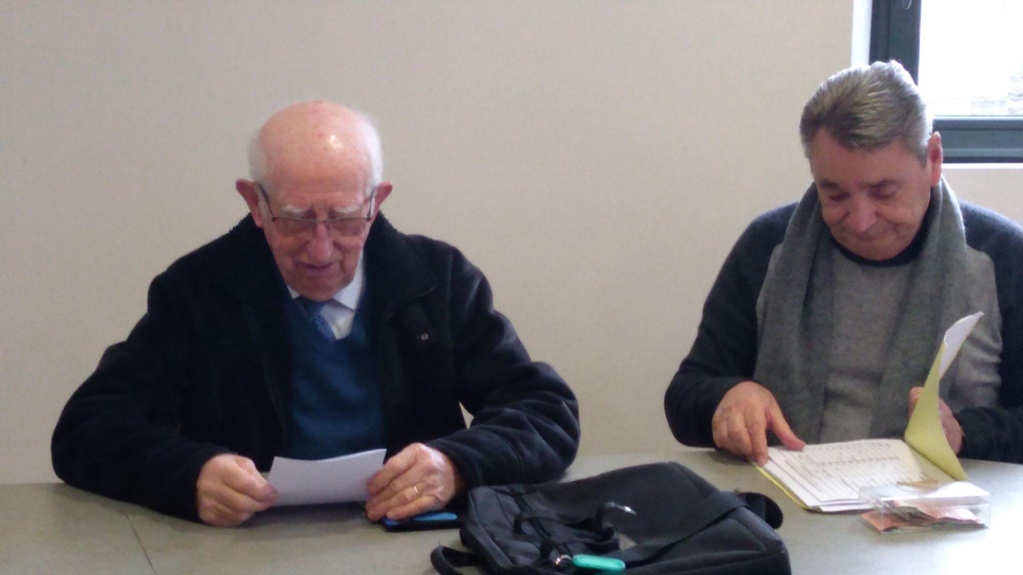 Le président Jean Mousseigne et son trésorier Jean Claude Chantraine