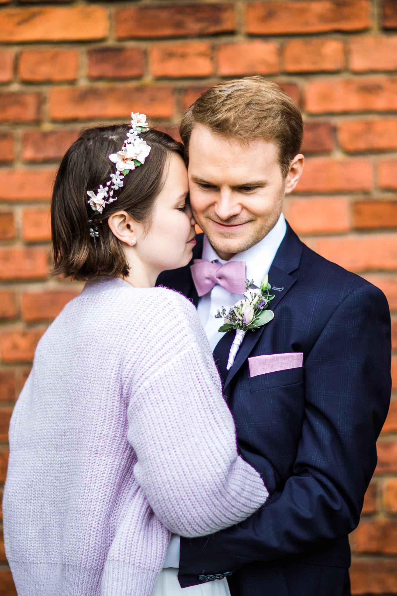 glückliches Paar nach der Hochzeit