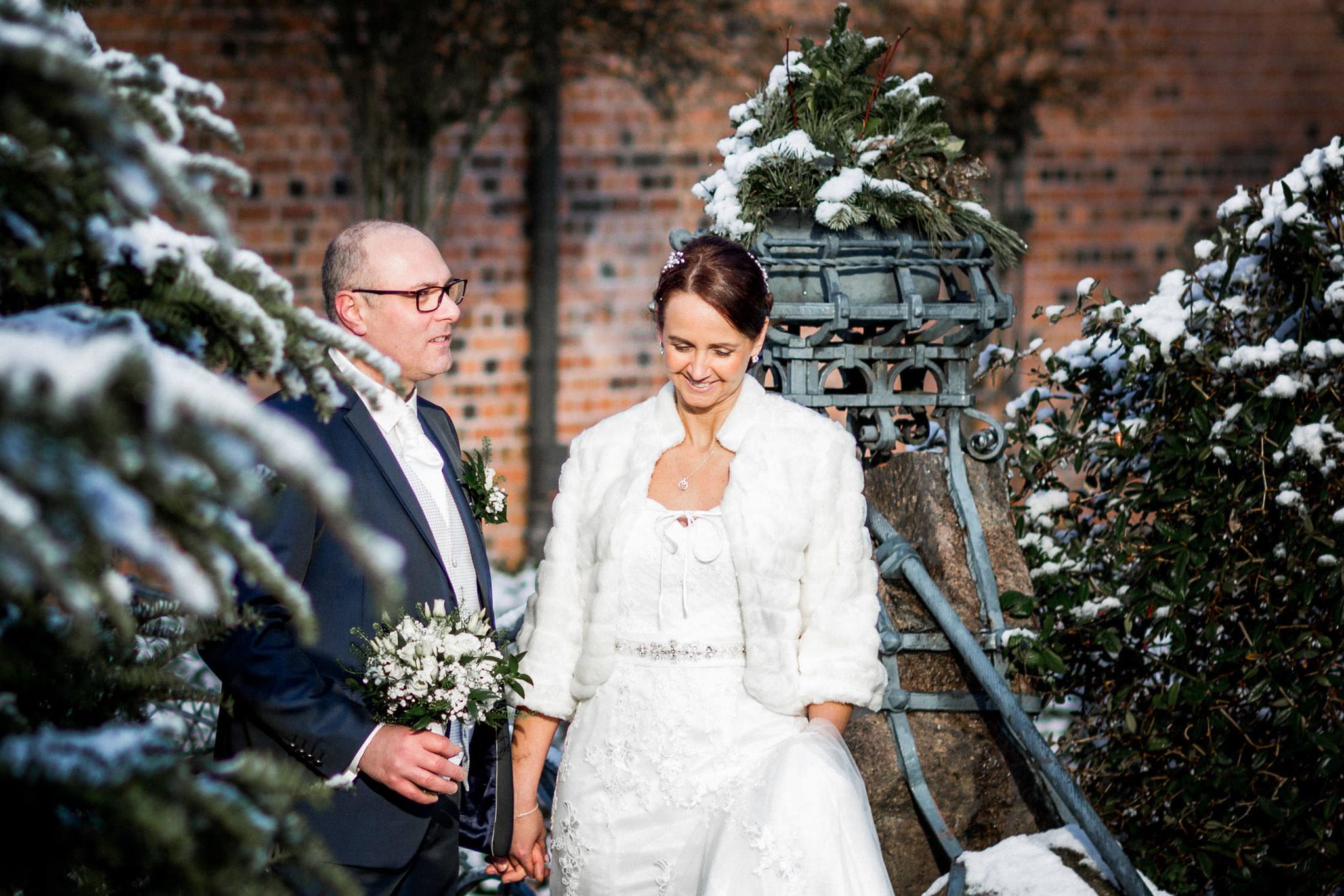 winterliches Brautpaar Shooting