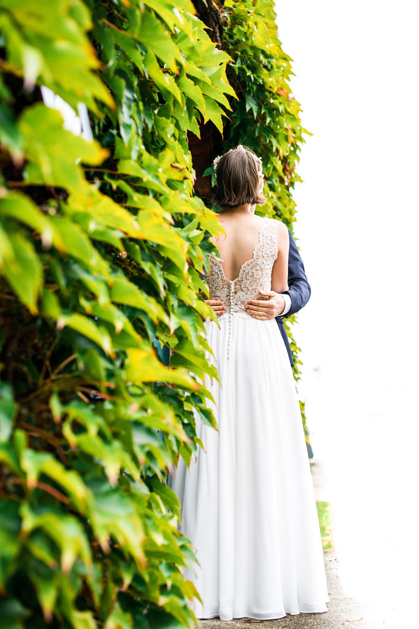 Brautpaar in der Stadt