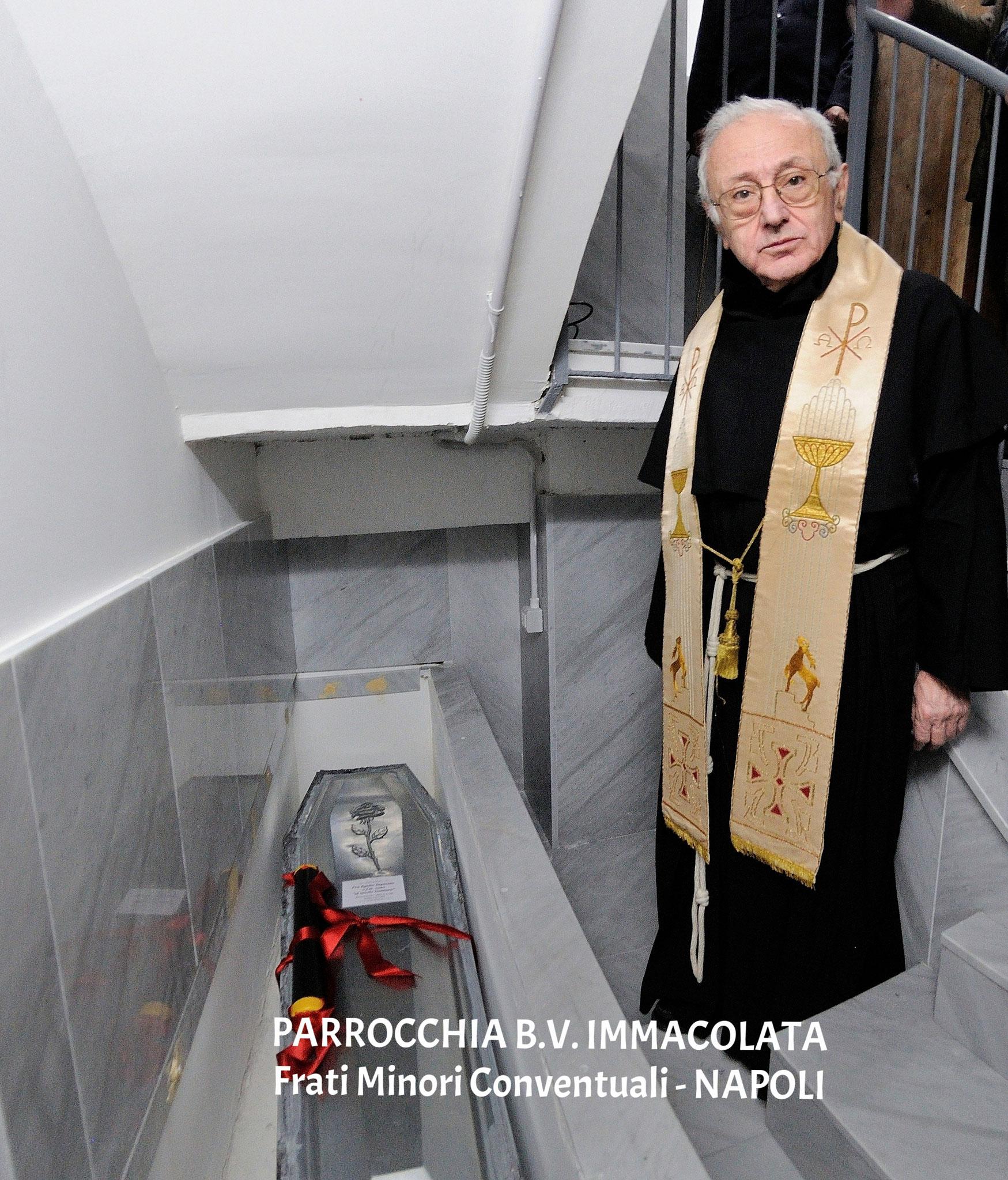 Nuova sistemazione delle spoglie di fr. Egidio