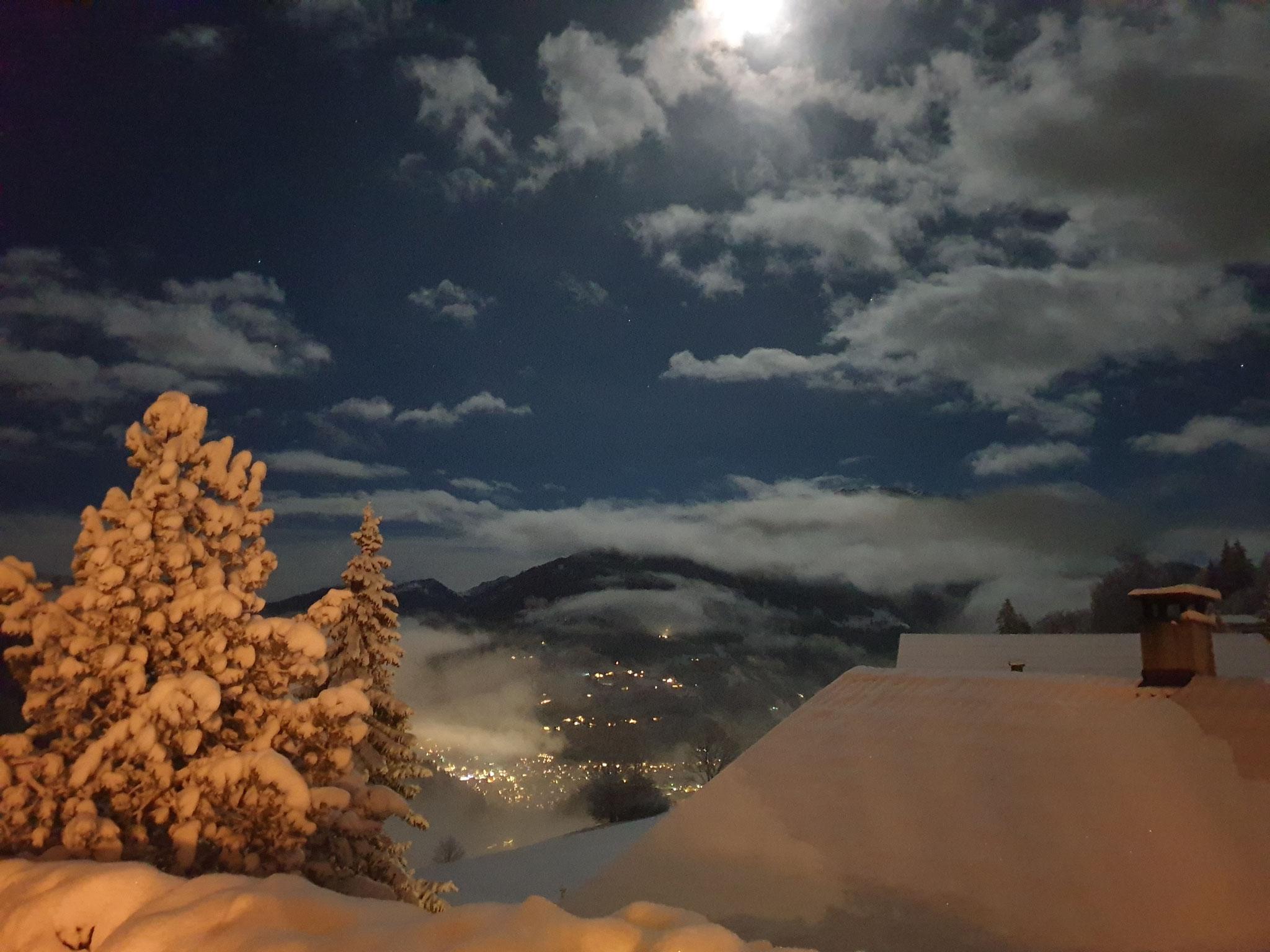 Blick von Terrasse 2 Winternacht