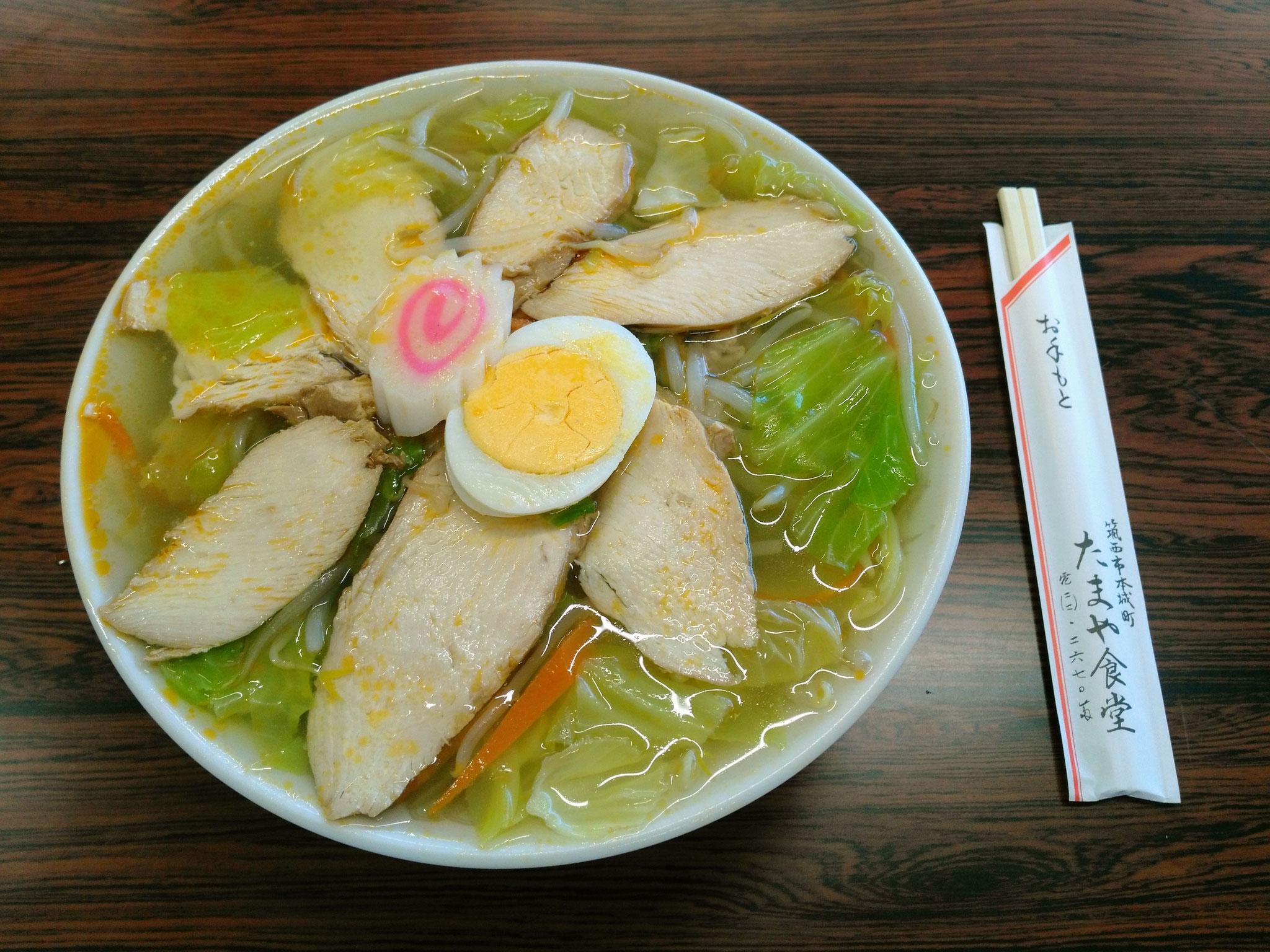 たまや食堂(塩タンメン・鶏チャーシュー入り)