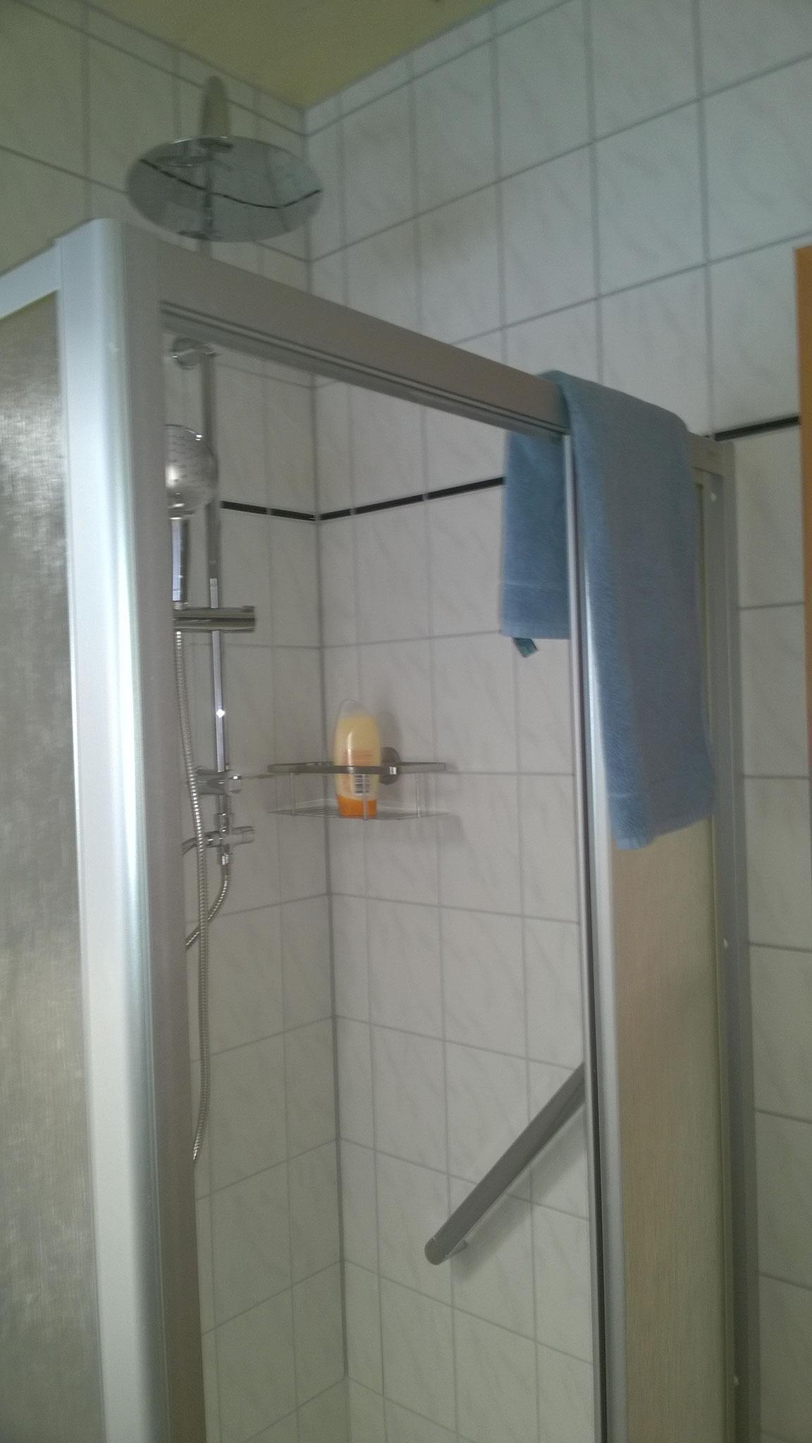 Badezimmer mit Regendusche/ Bathroom with rain shower