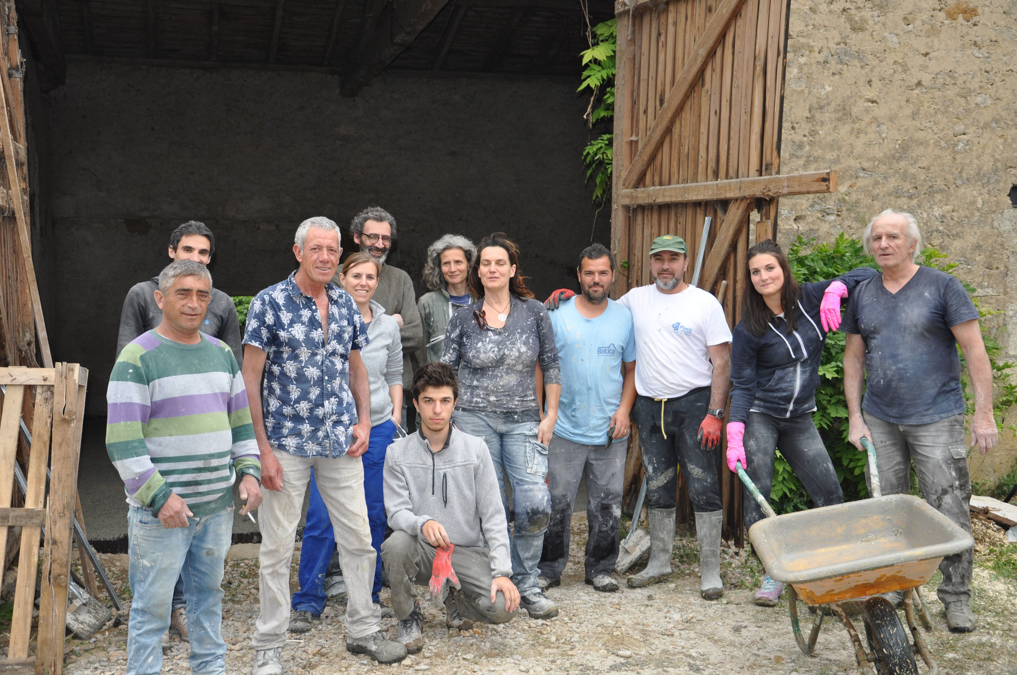 Anne Gomez - Chantier participatif dalle chaux chanvre