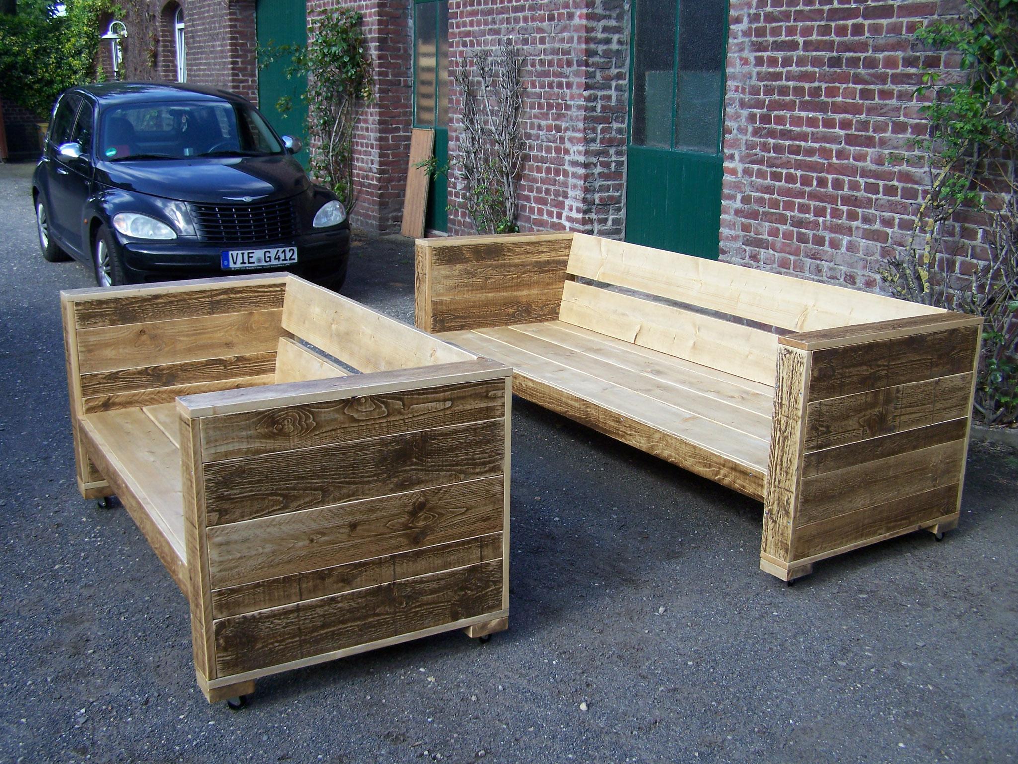 Sitzbank aus Palettenholz
