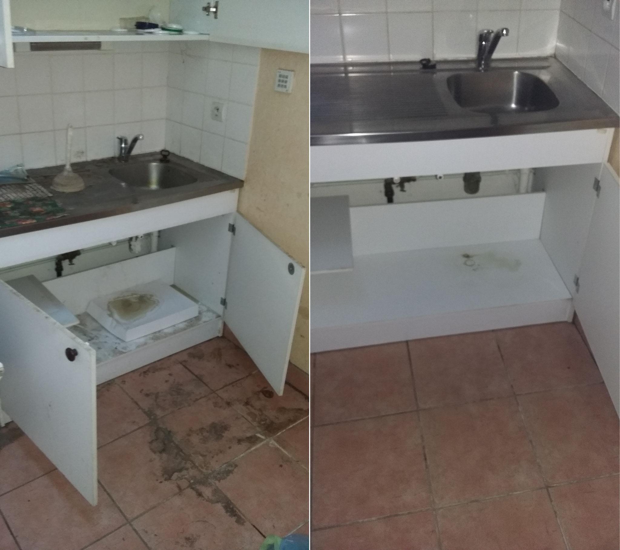Nettoyage de mobiliers de cuisine