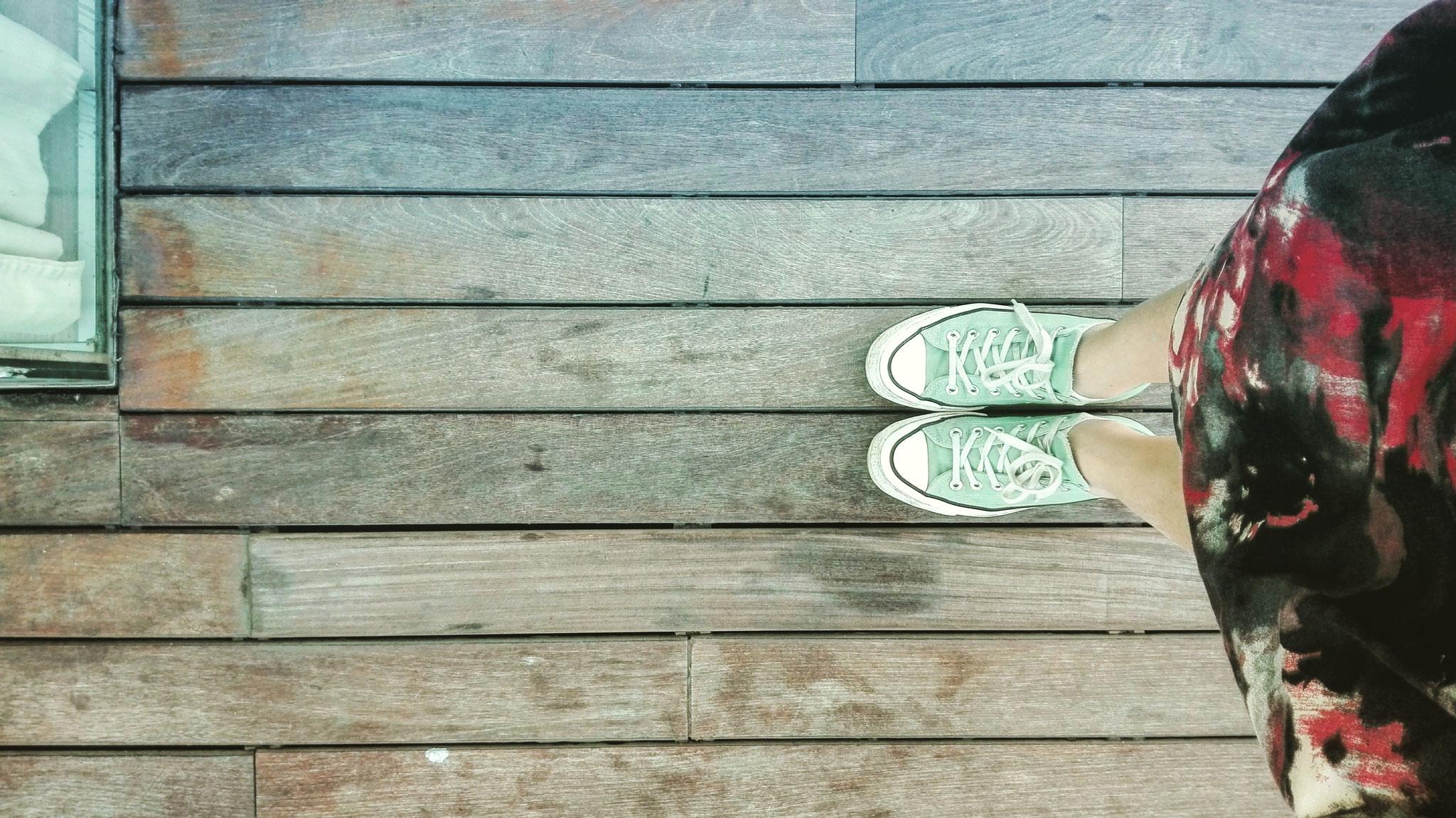 Converse & Wooden Floor