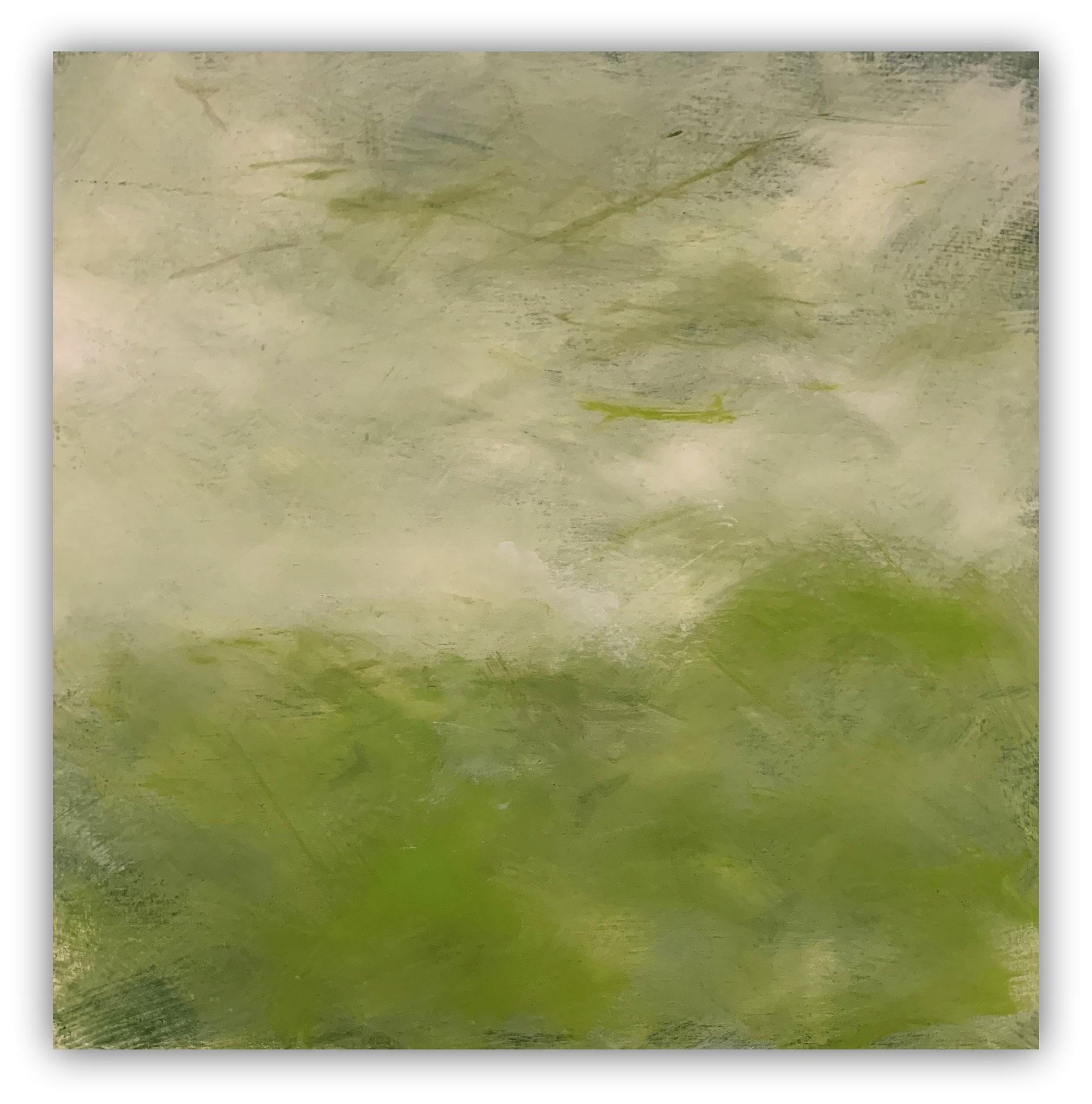 Ybbsufer 90 x 90 cm/Dispersion, Acryl auf Leinen