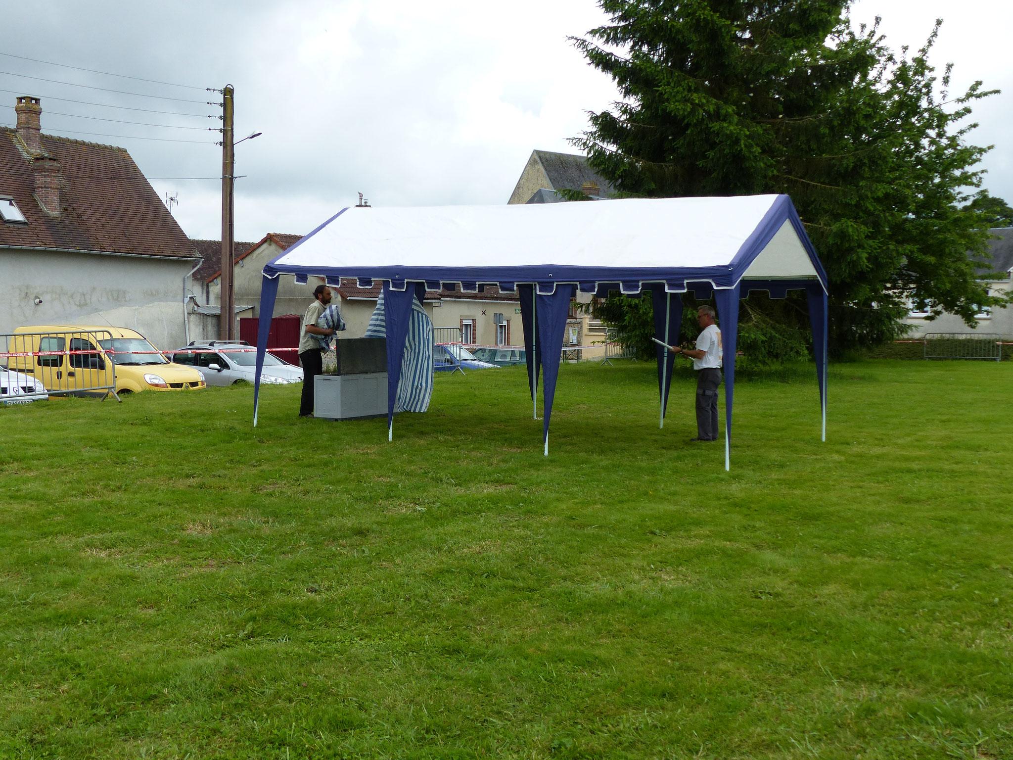 installation du premier  barnum