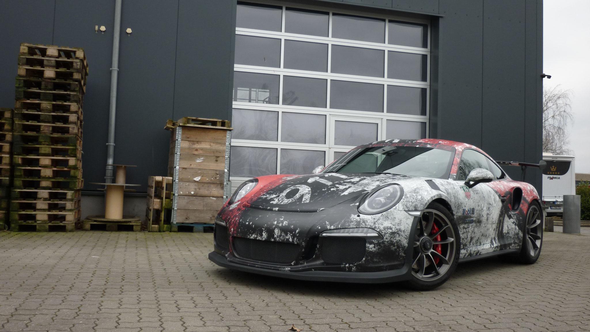 Porsche GT3 RS Verwitterte Rennsportdesign Folierung