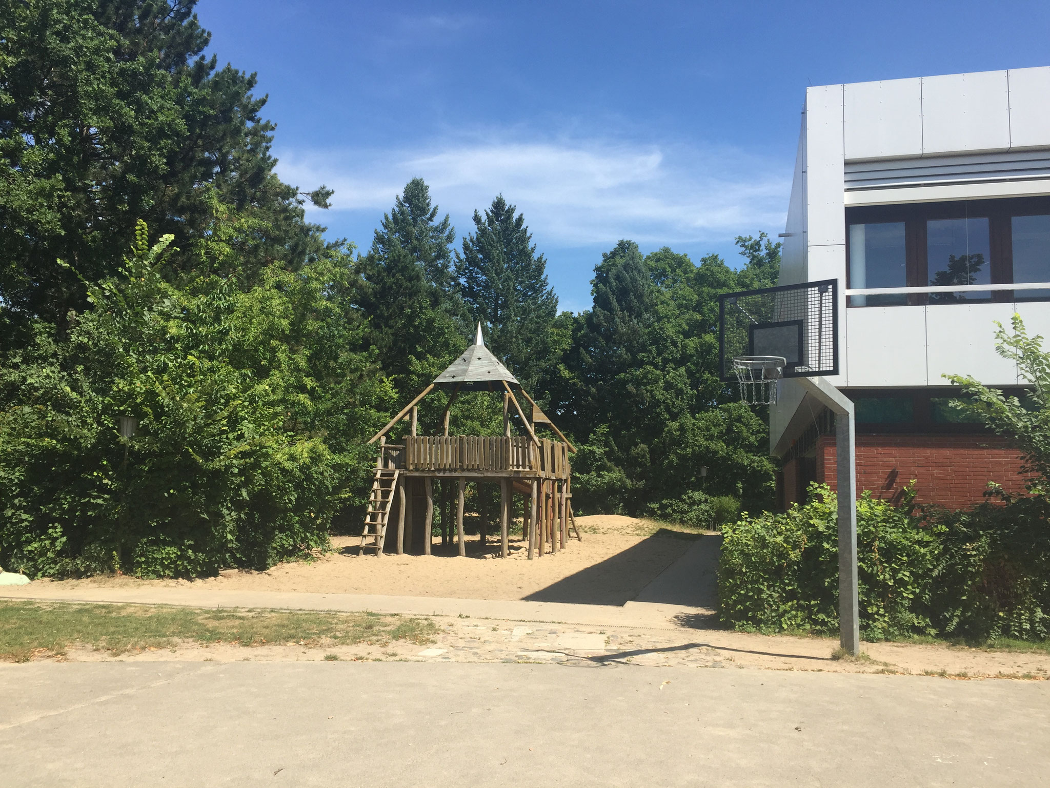 Unser Basketballplatz.