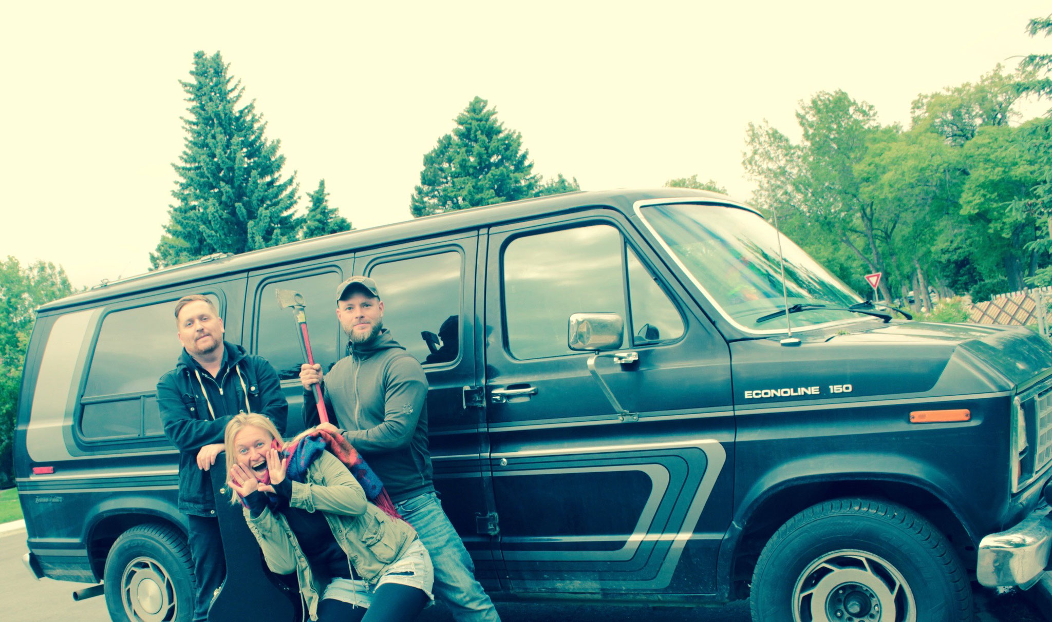 "with chris and our old van ""Dark Rider"""