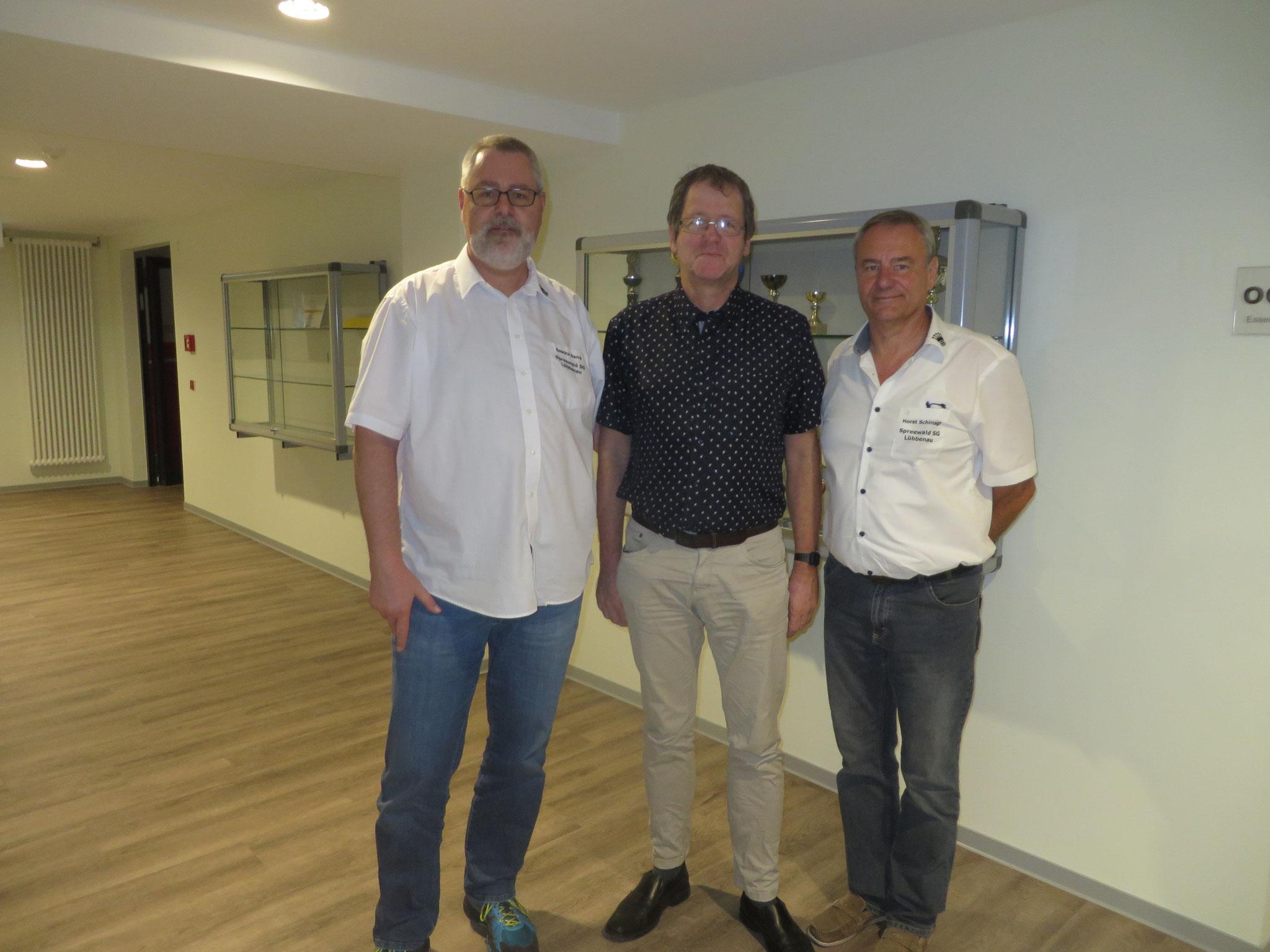 Die 3 Lübbenauer Vertreter Sascha, Olaf und Horst (v.l.n.r.)
