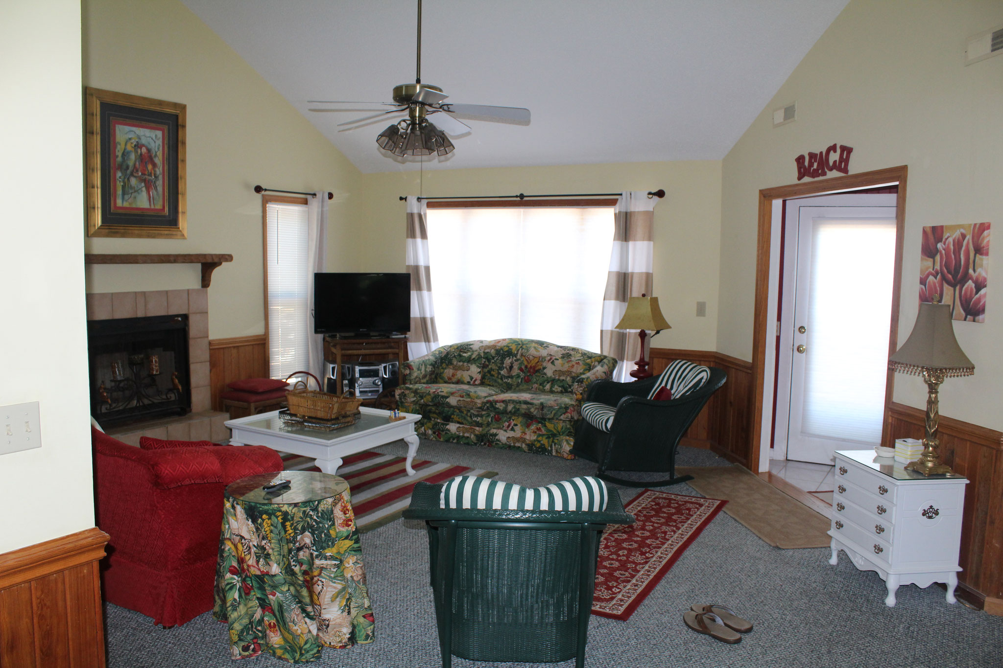 The den, as seen from the kitchen.