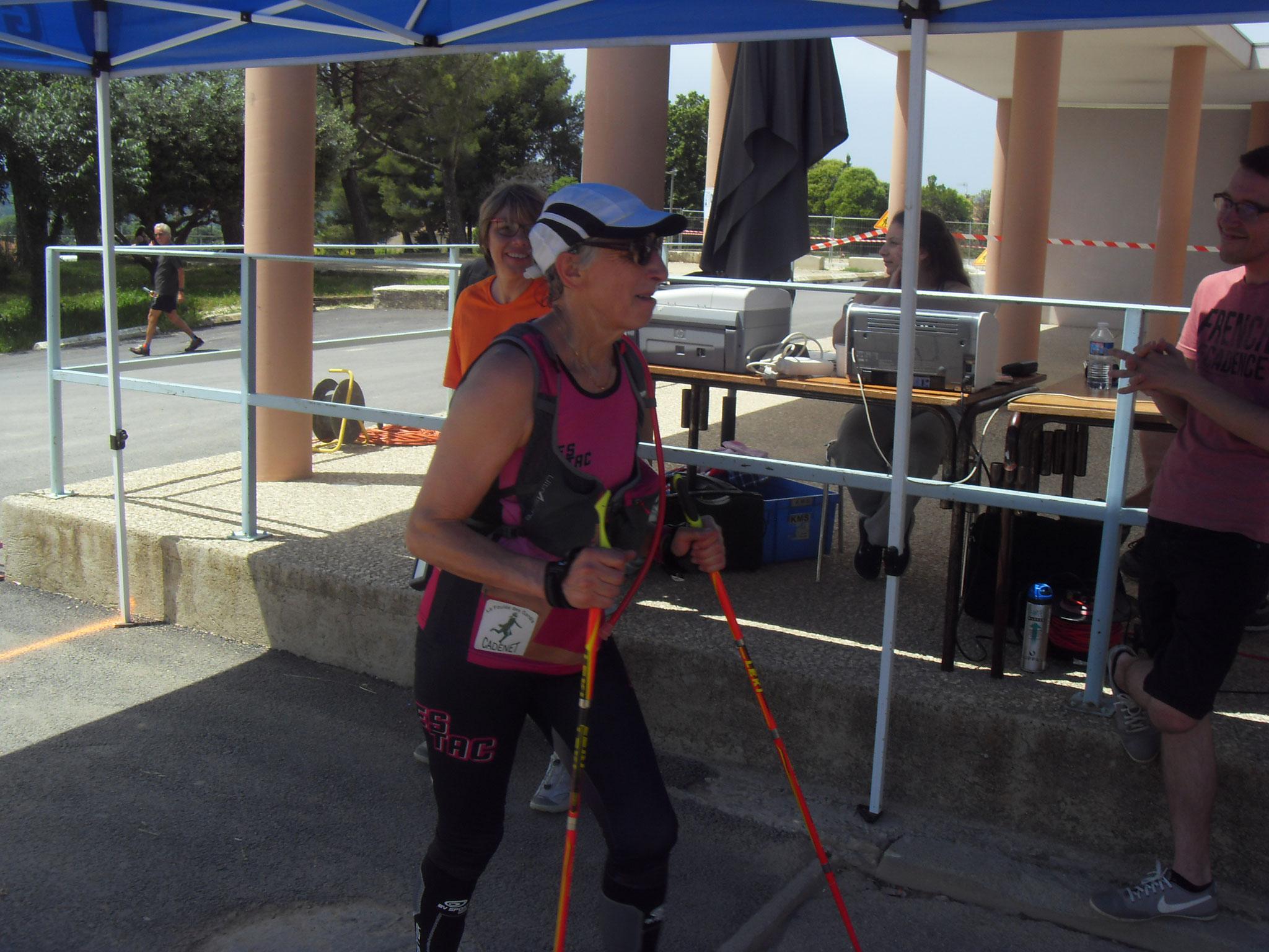 32-Et voici Geneviève, 17kms, félicitations