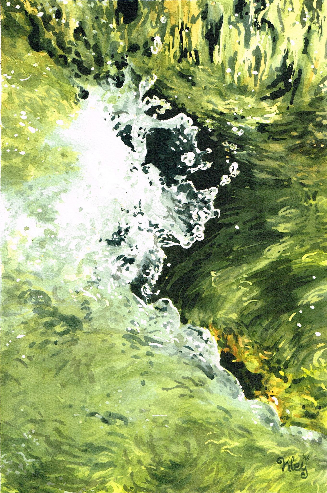 """Wave"" Aquarell 20x30cm"