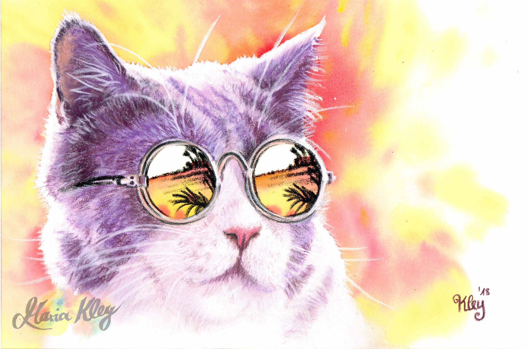 """Sonnenbrille"" Pastell 20x30cm"