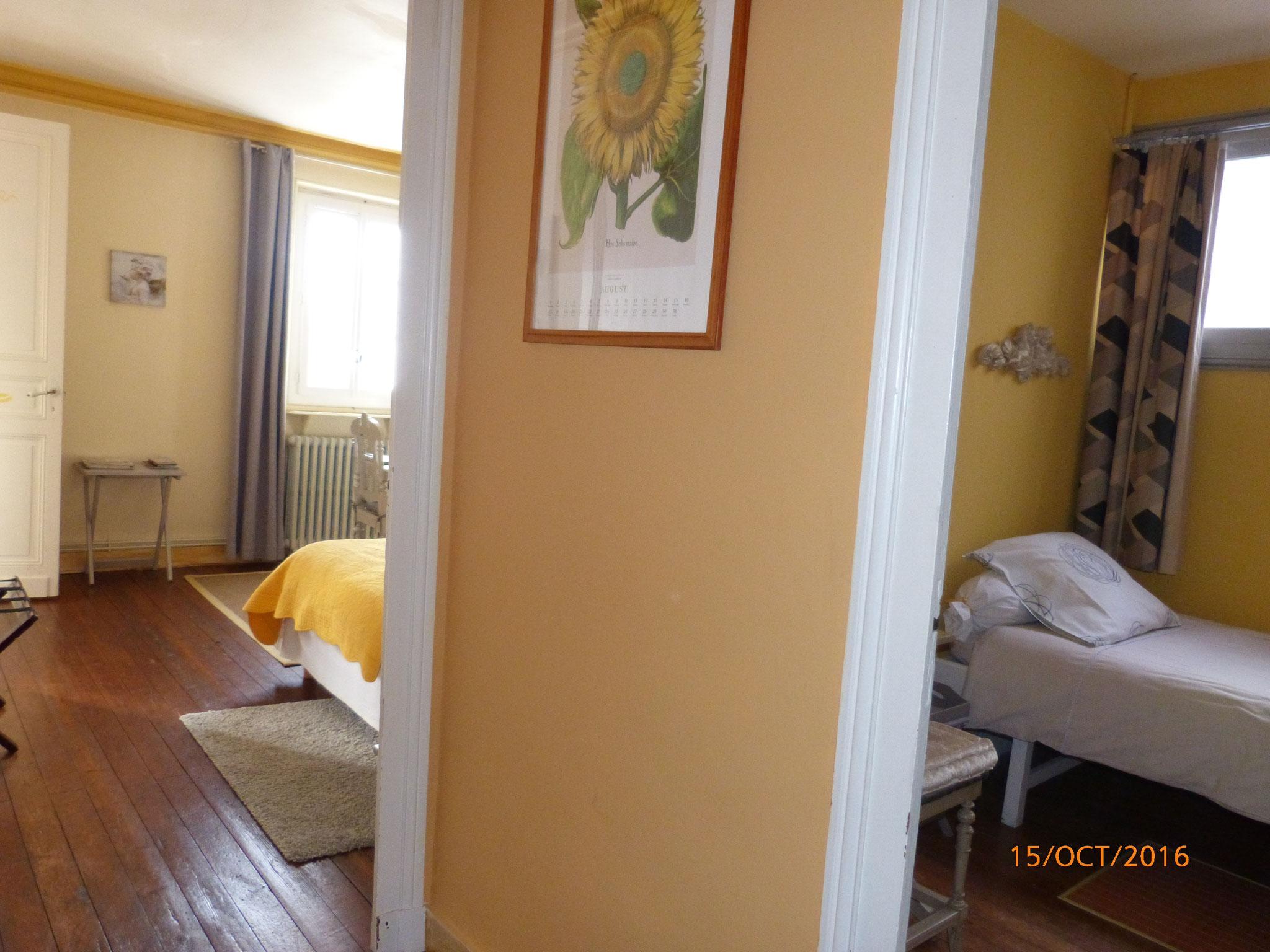 Couloir reliant les 2 chambres