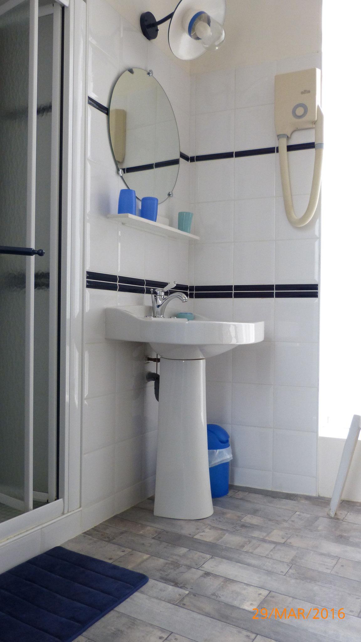 Chambre Marine-salle d'eau-douche