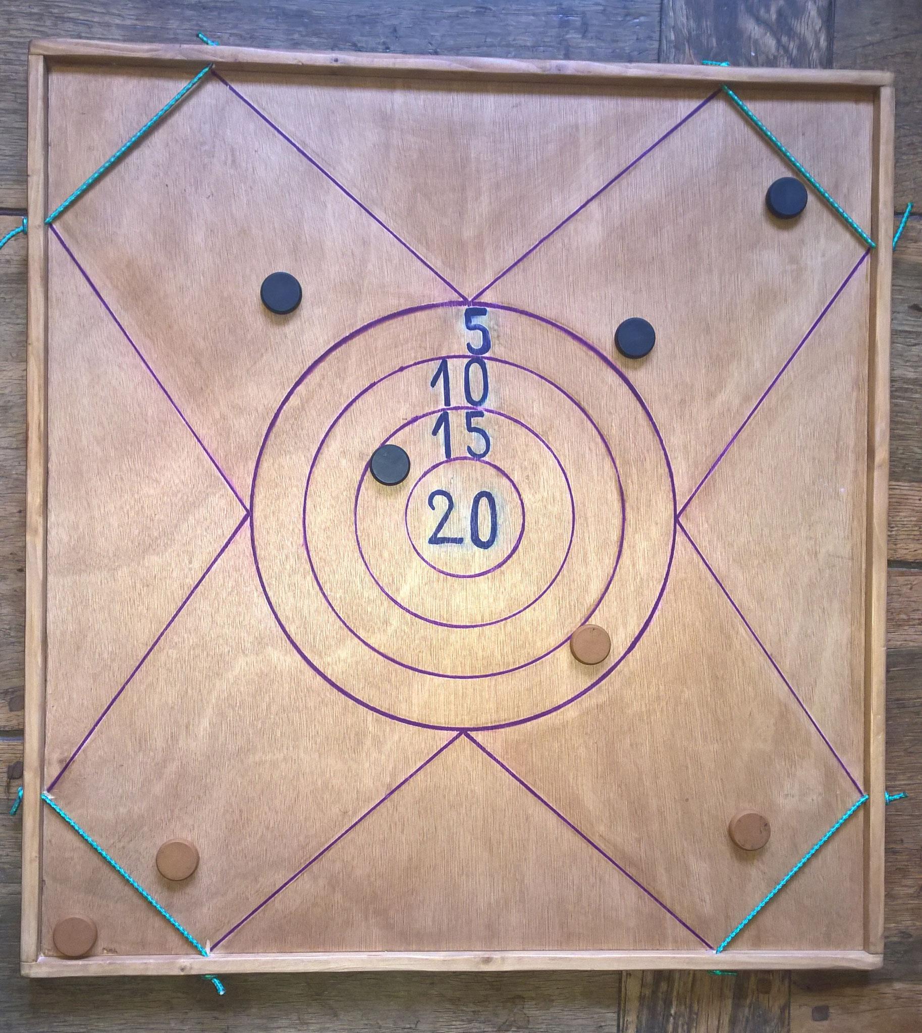 tir sur cible à élastique (2 à 4 joueurs)