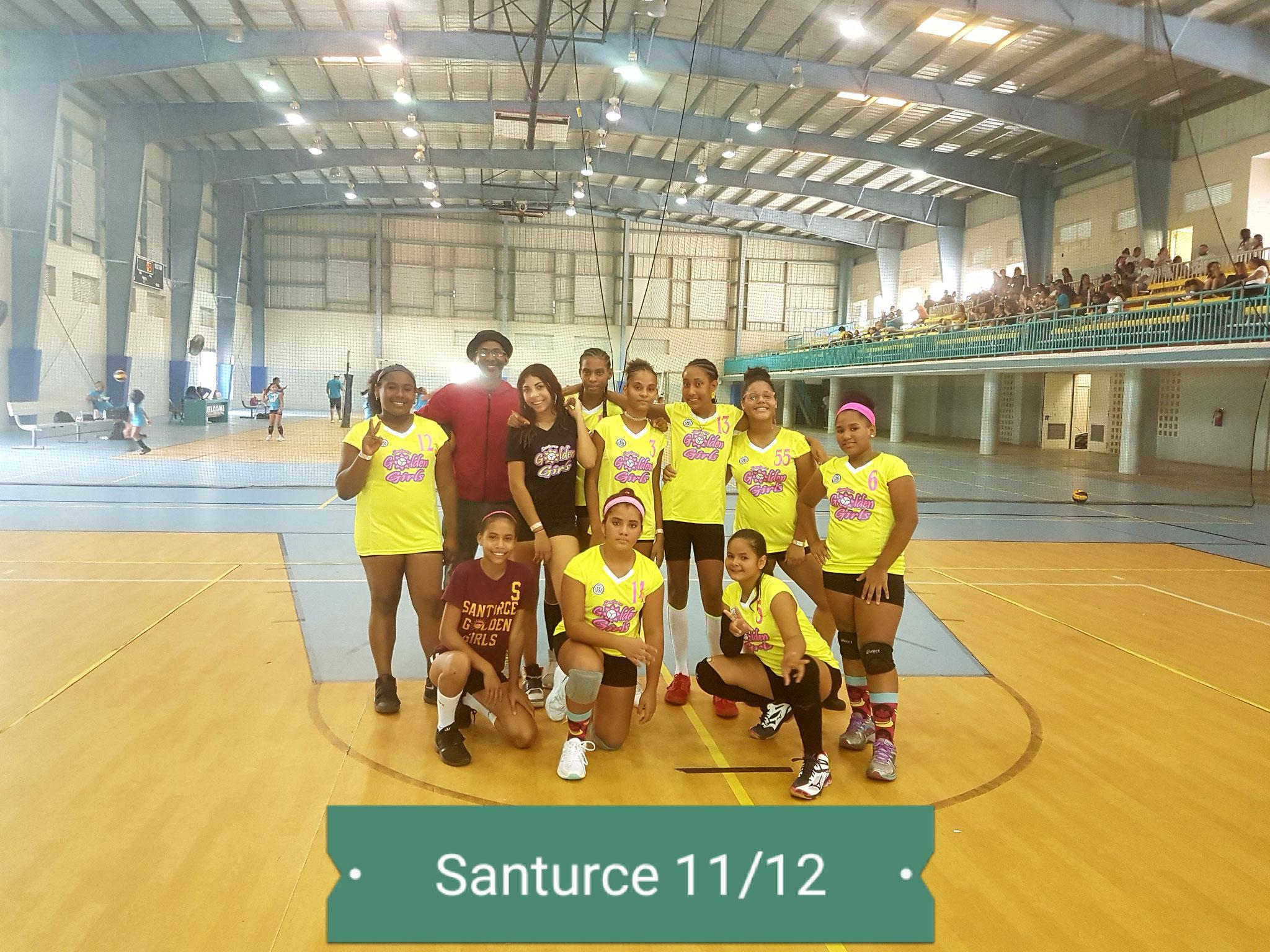 SANTURCE GOLDEN GIRLS CUARTO LUGAR 11 Y 12 AÑOS