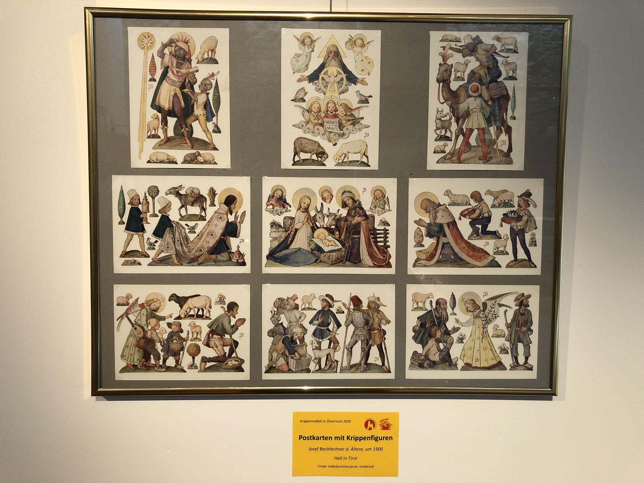 Postkarten mit Krippenfiguren, Josef Bachlechner d. Ältere, um 1900, Hall in Tirol