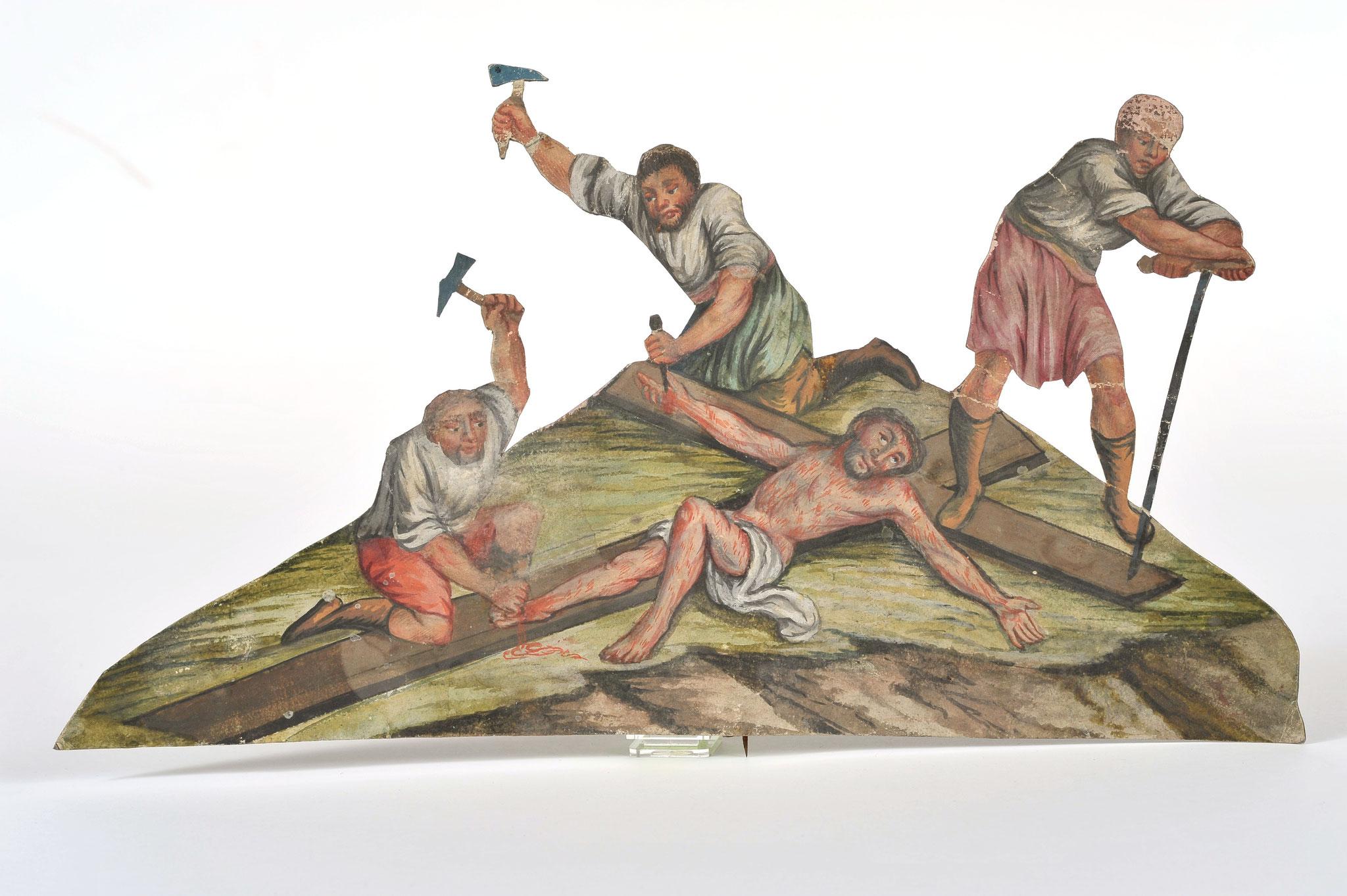 Fastenkrippe aus Thaur, Papier, Mitte 19. Jh. - Fotonachweis Tiroler Landesmuseen/Volkskunstmuseum