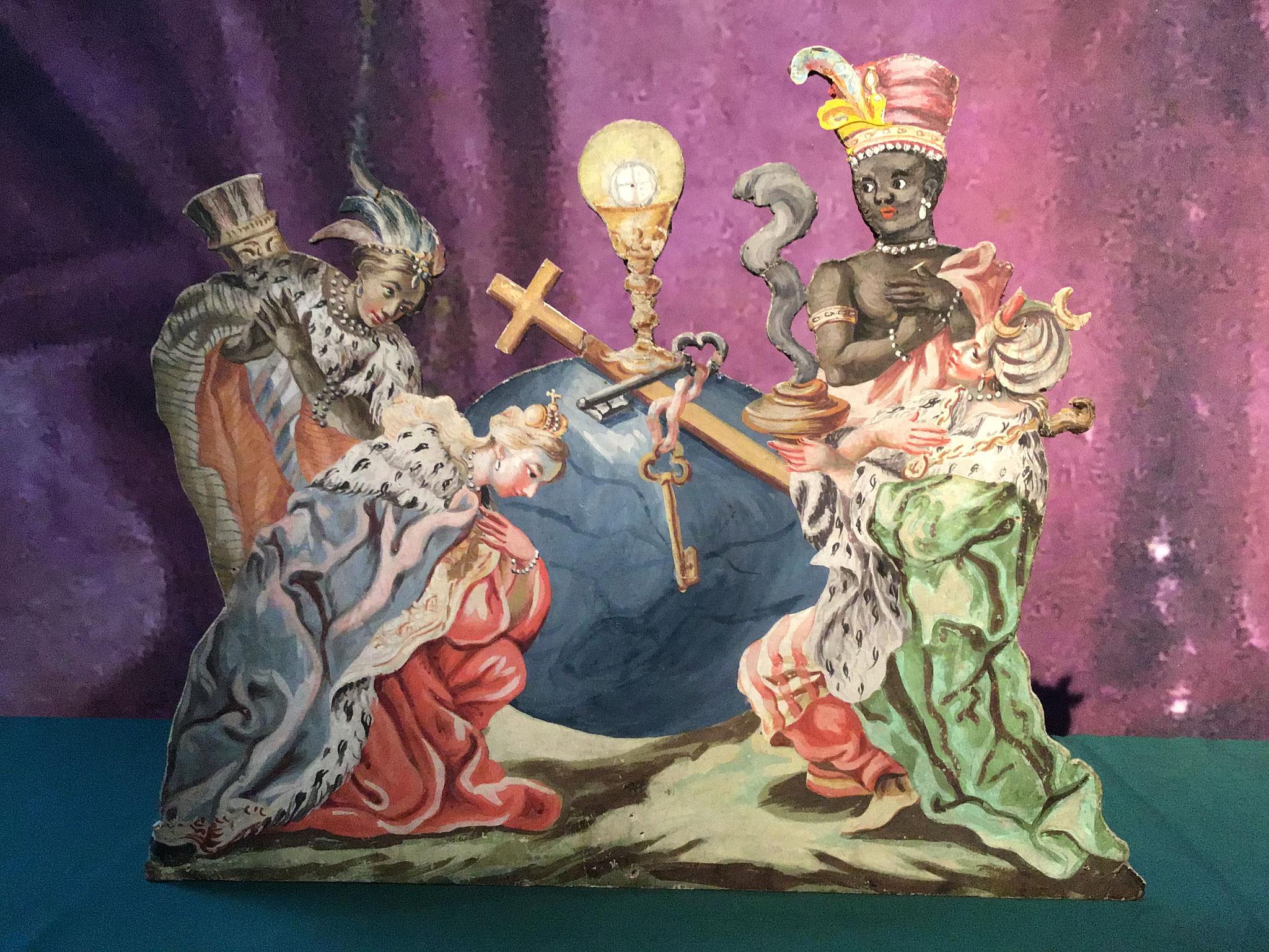 Anbetung der vier Erdteile, Christoph Anton Mayr, um 1765, Schwaz