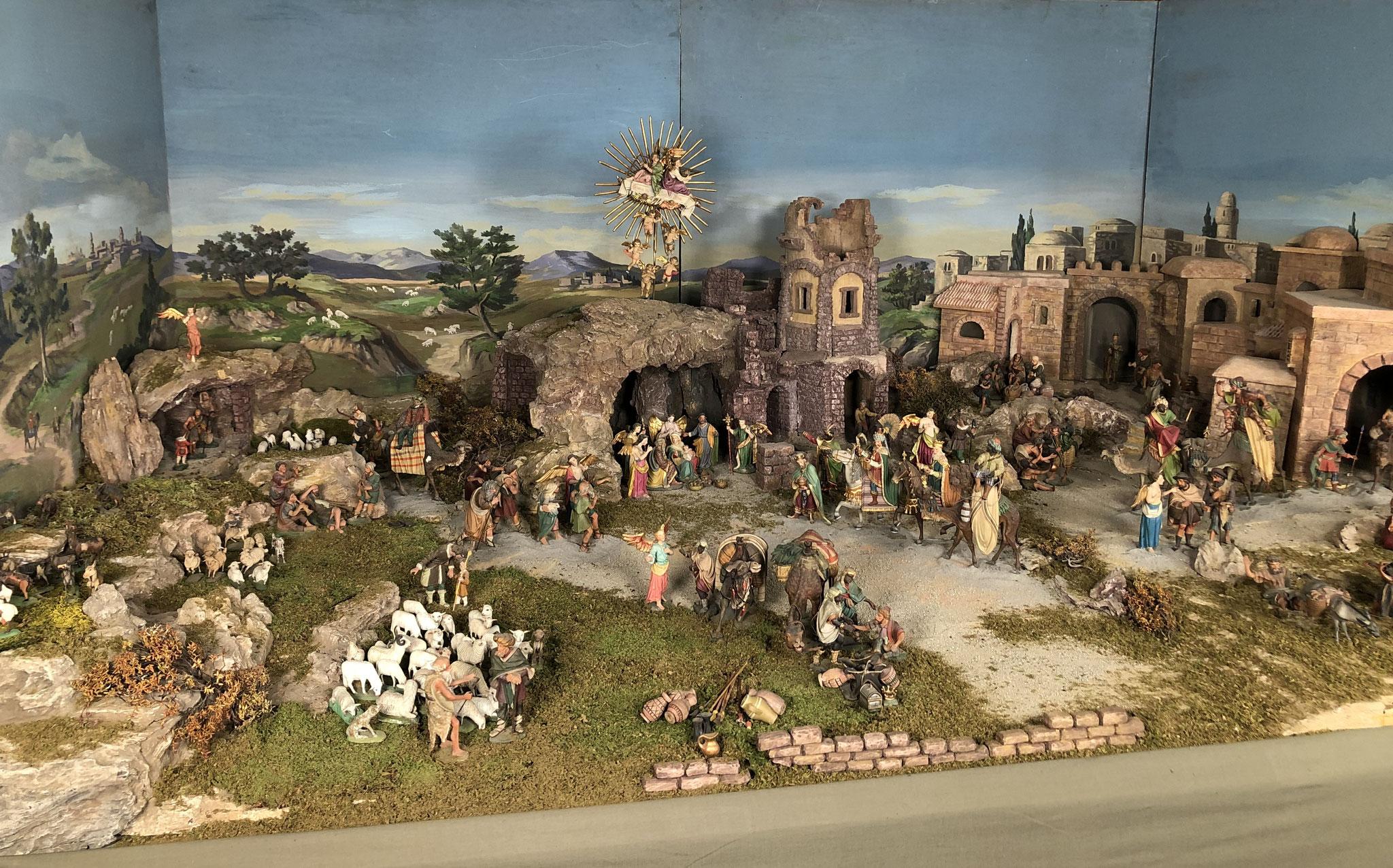 Orientalische Krippe - Schärmerkrippe - Figuren Alexander Öfner - Xander, Johann Kleissner - Plätz und Johann Leimgruber; um 1900, Heimatmuseum Zirl