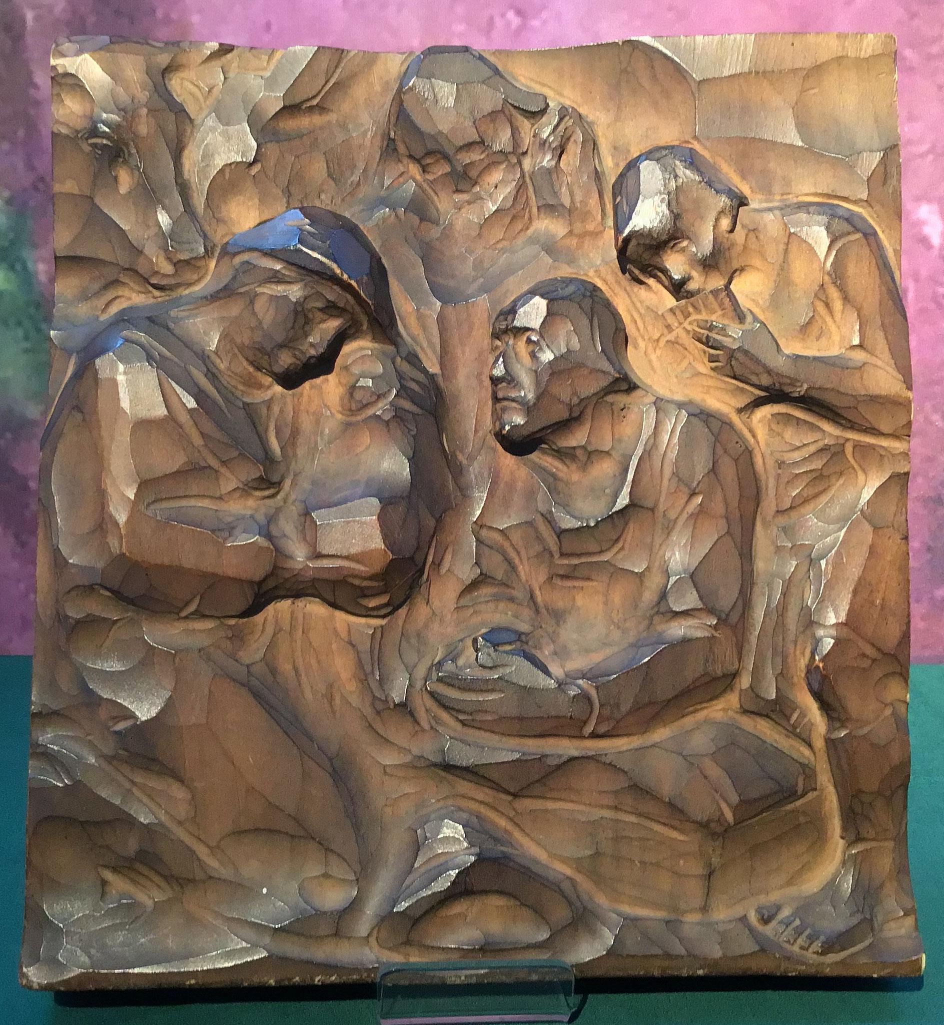 Relief mit Krippe, Ludwig Penz, um 1900, Tirol