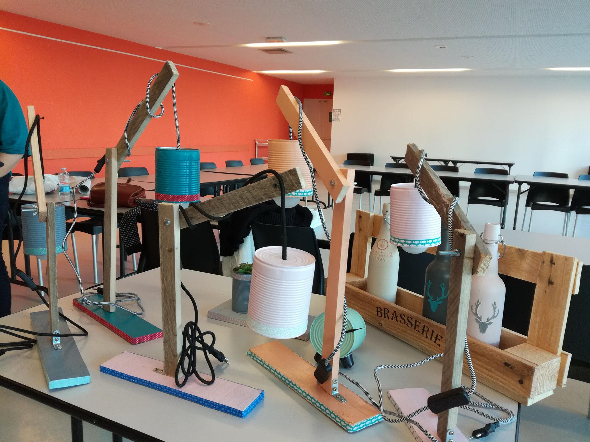 Atelier lampes Zéro Déchet à Grande Synthe
