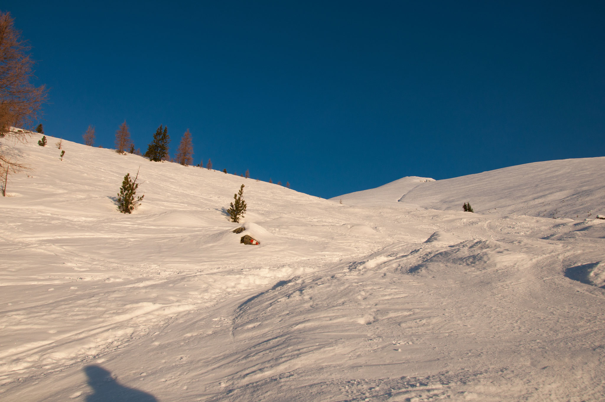 Nach der Halterhütte beginnt der Aufstieg über die markante Preberflanke, diese bringt uns bis zum Gipfelhang.