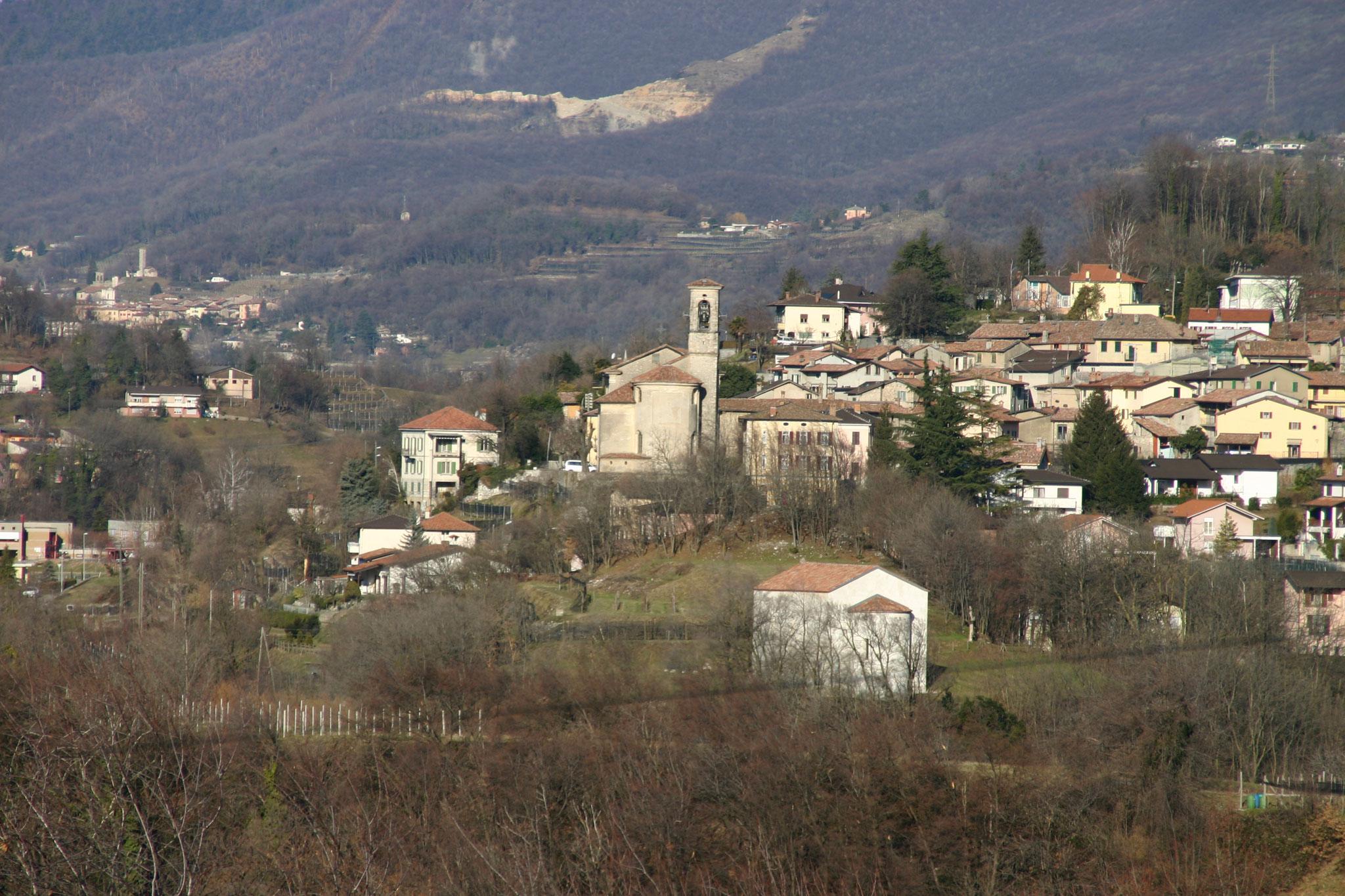 Veduta delle chiese di S. Pietro e di Sant'Eusebio