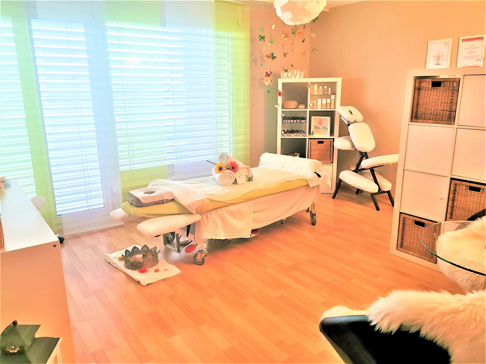 Neues Massagezimmer, November 2020